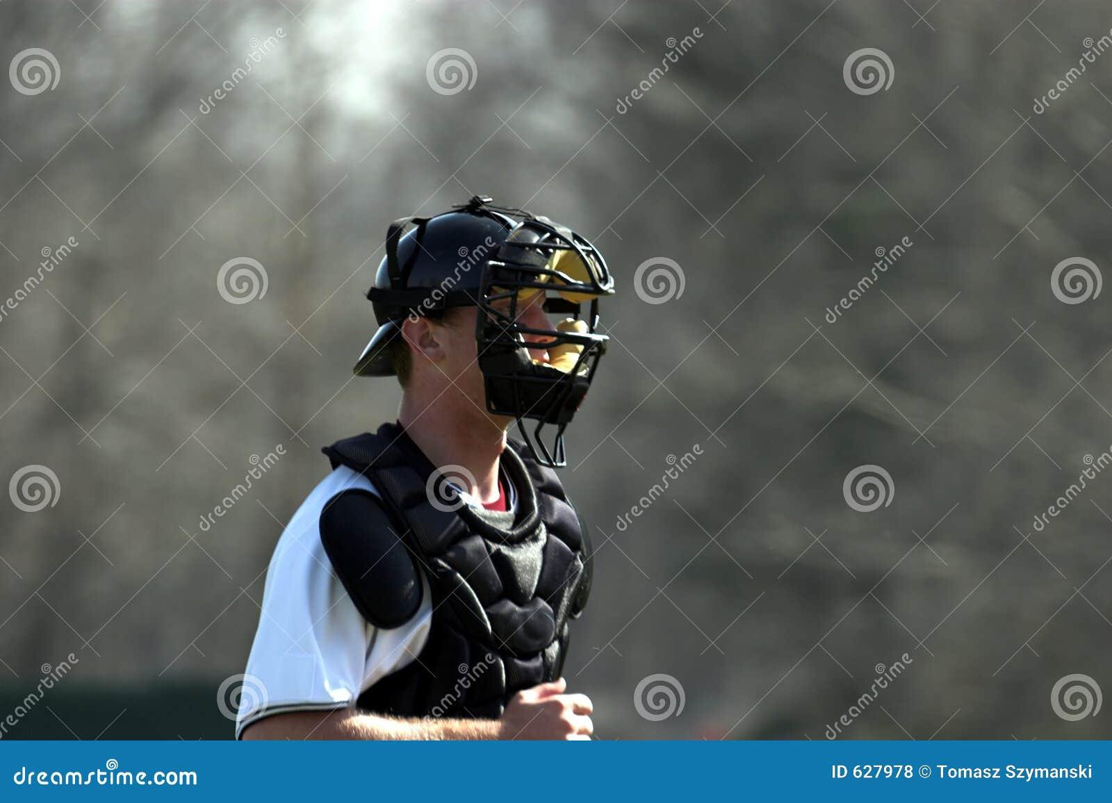 Download улавливатель бейсбола стоковое фото. изображение насчитывающей софтбол - 627978