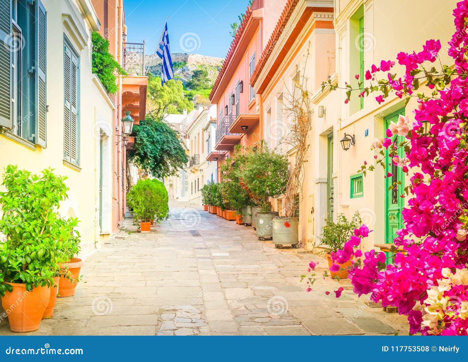 Улица Афин, Греции