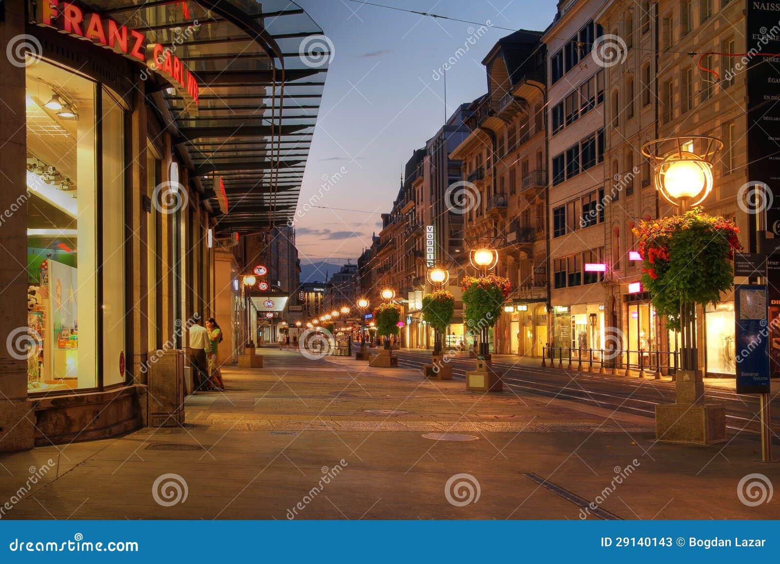Улица в Женеве, Швейцарии