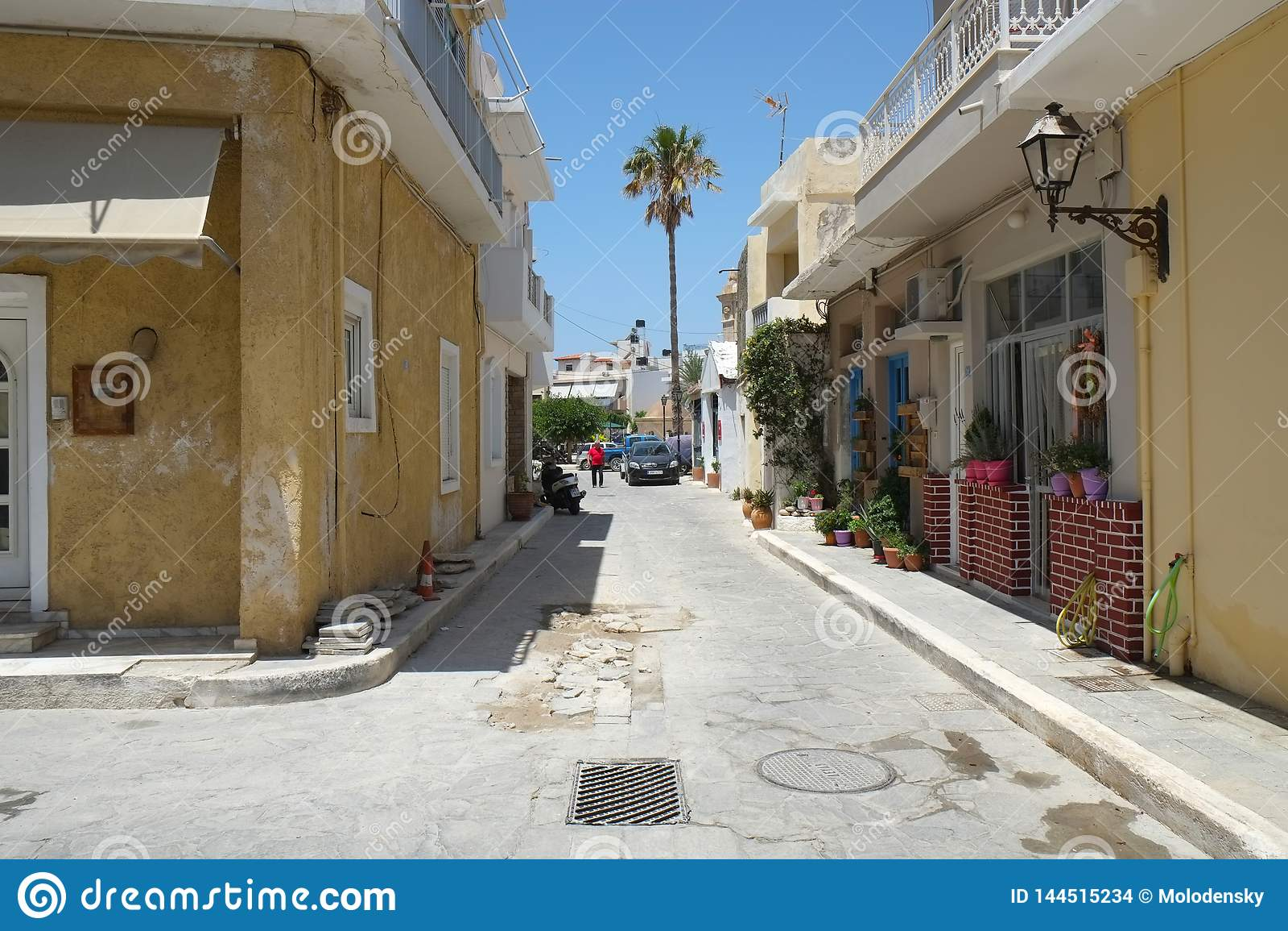 Улица в Ierapetra, Крите, Греции