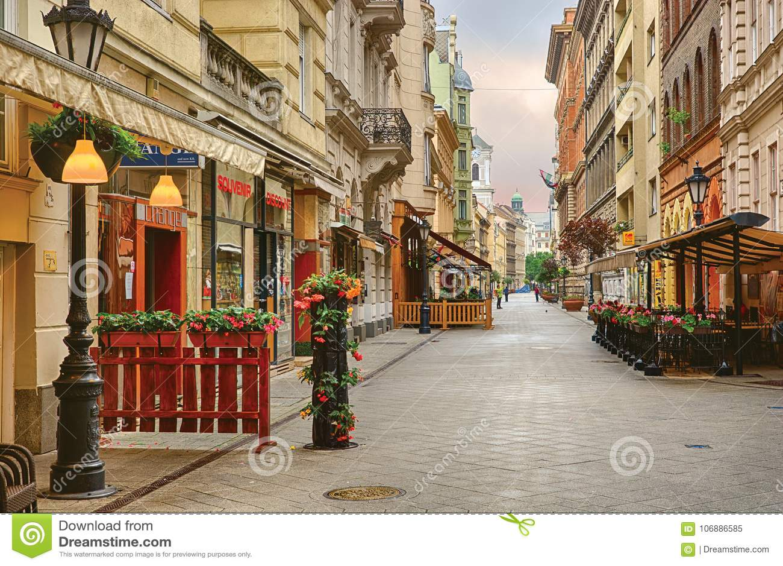 Улица Vaci в Будапеште