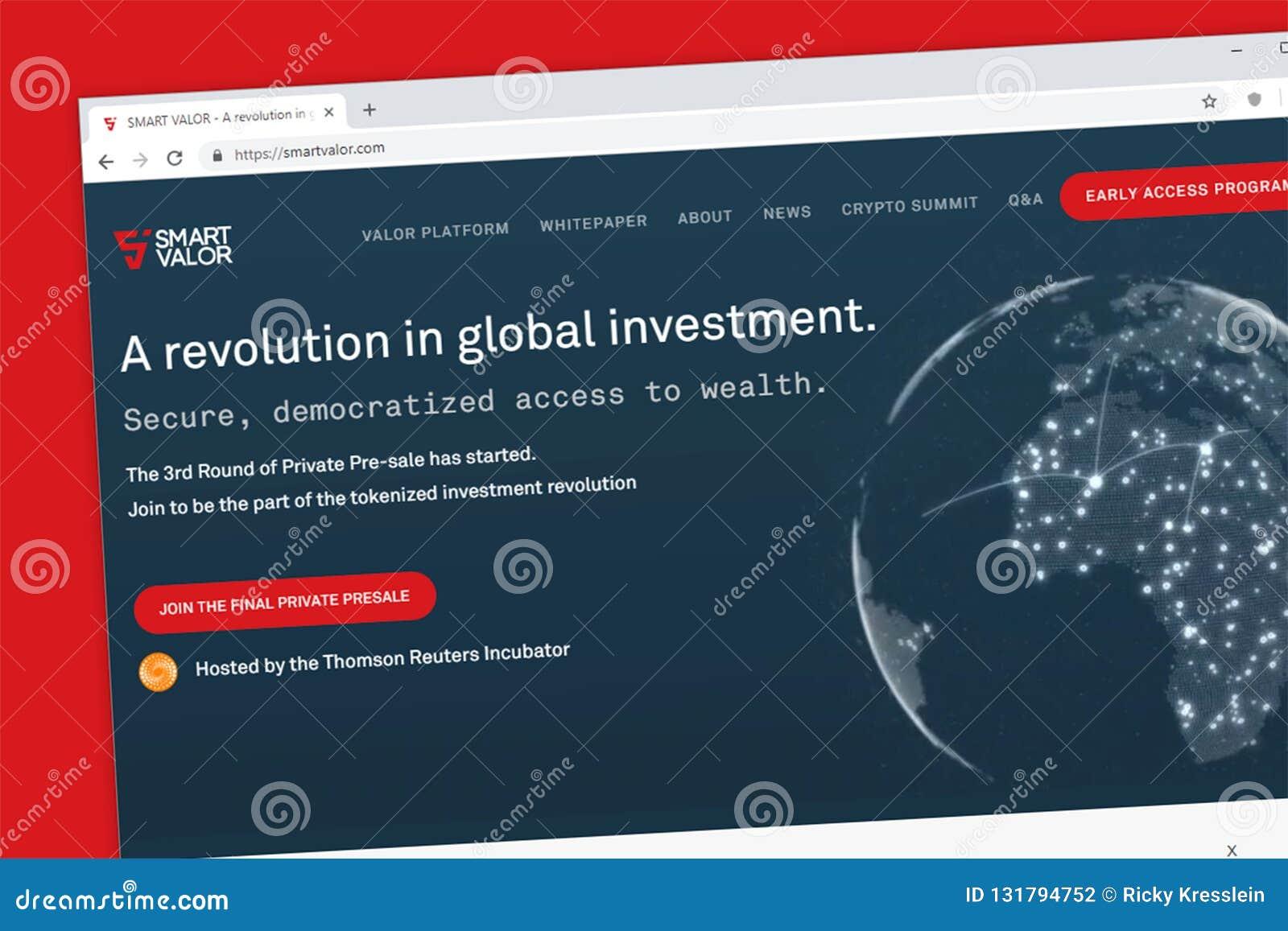 Умная платформа доблести для того чтобы демократизировать доступ к богатству через tokenized вебсайт вклада
