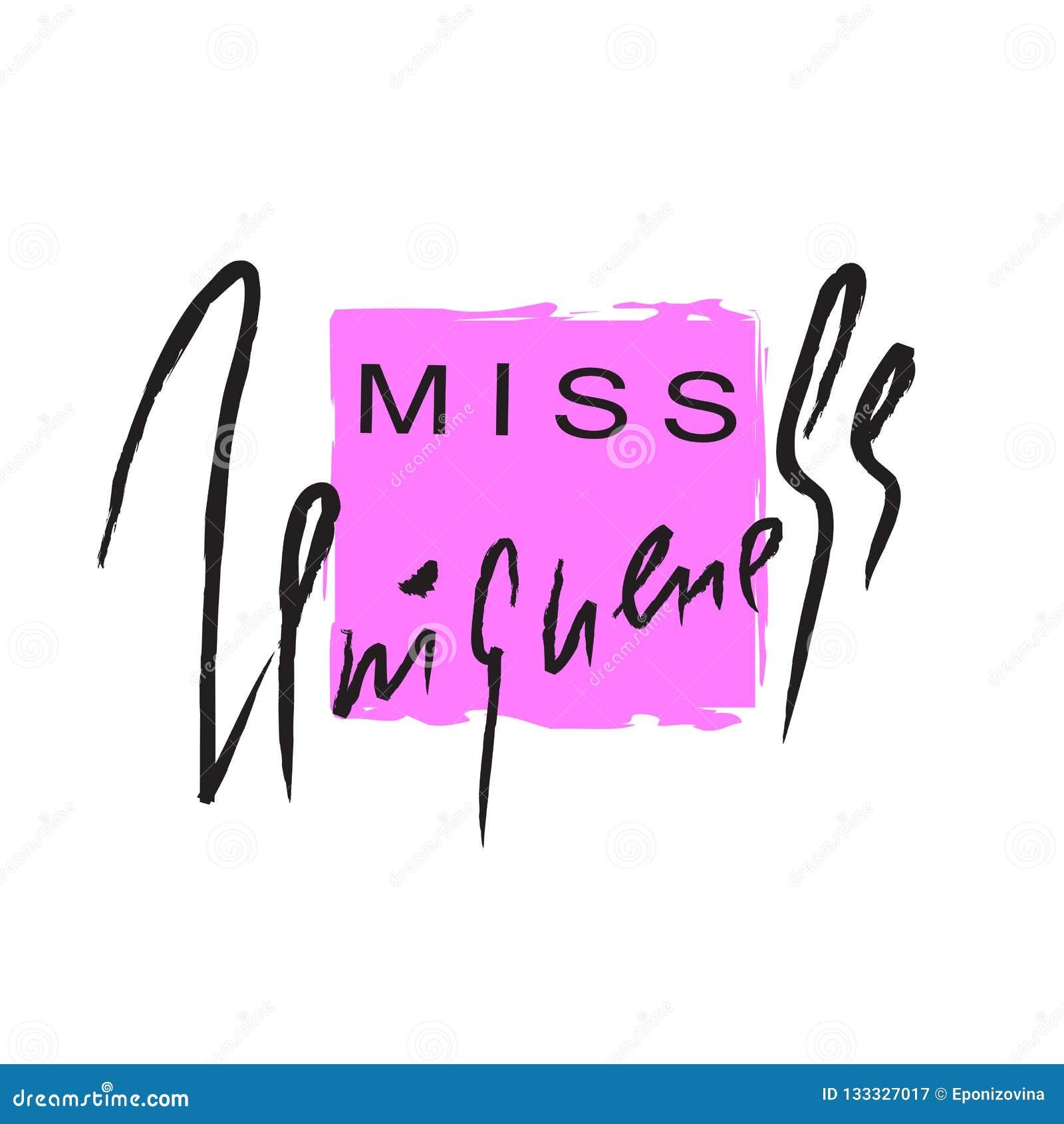 Уникальность госпожи - эмоциональная воодушевите и мотивационная цитата Литерность нарисованная рукой красивая