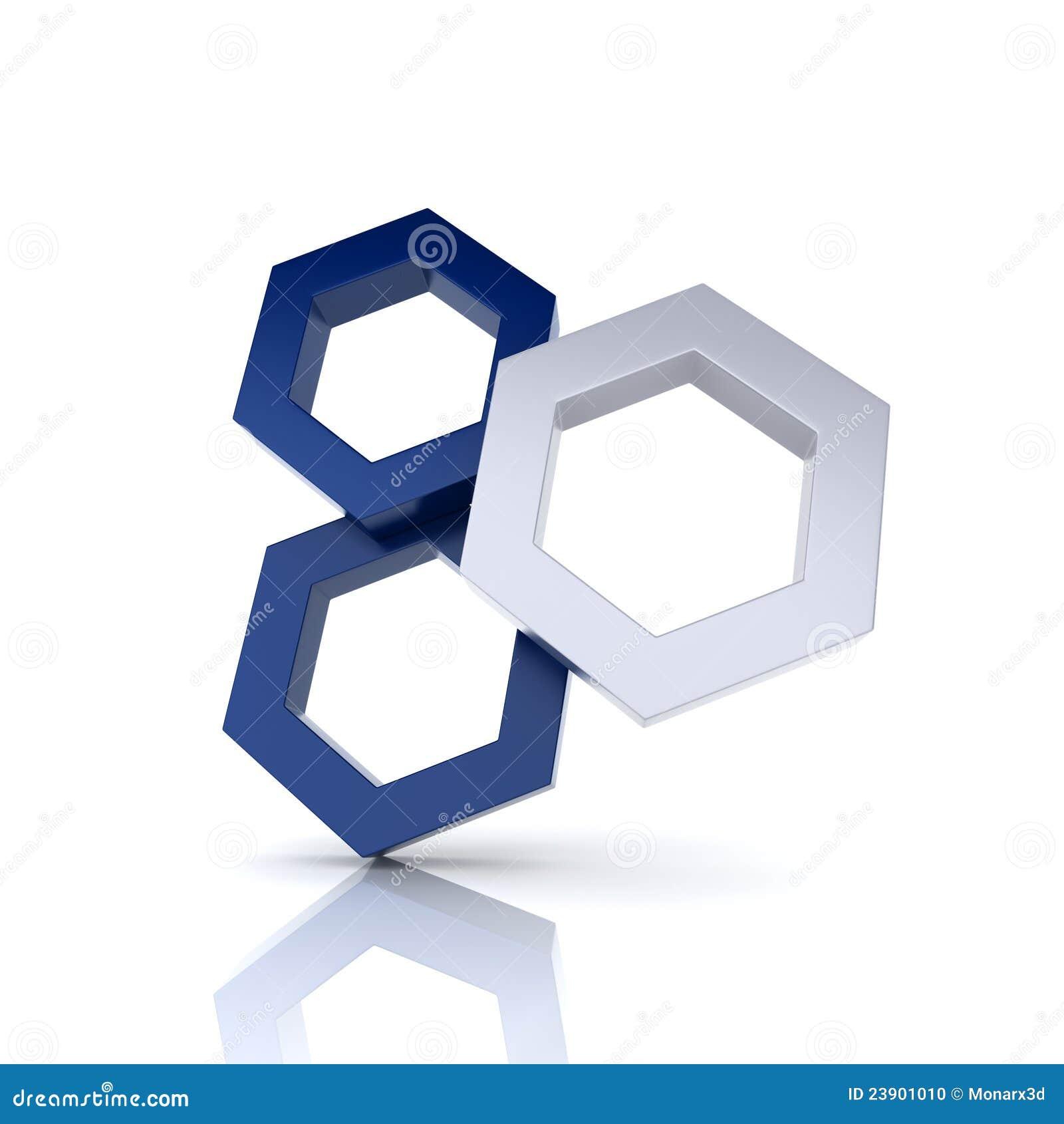 Уникальность 3 шестиугольника