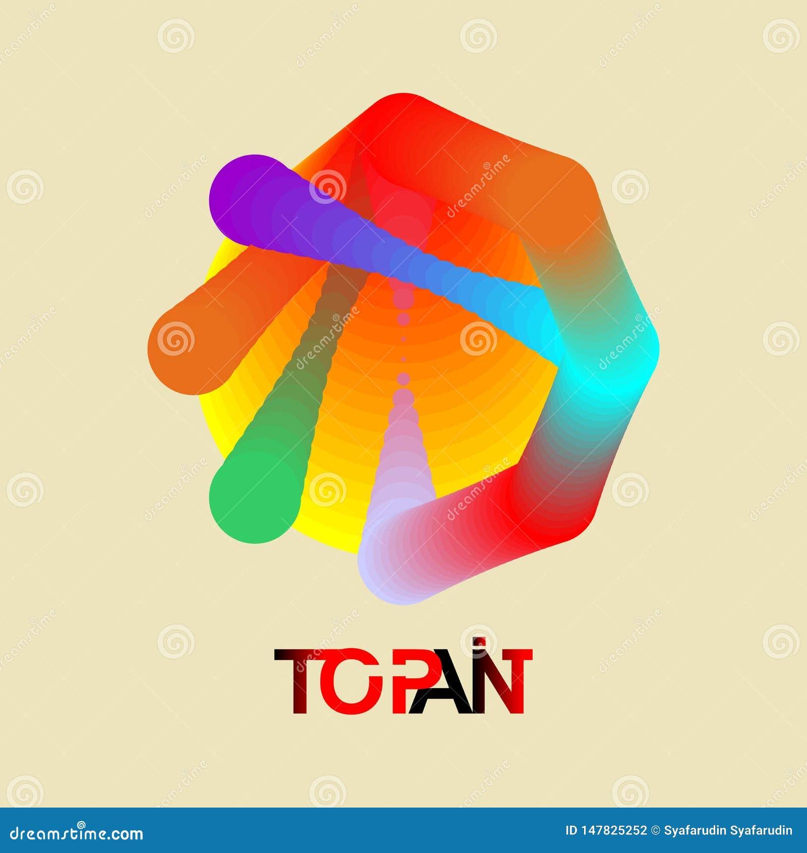 Уникальный логотип круга градиента цвета