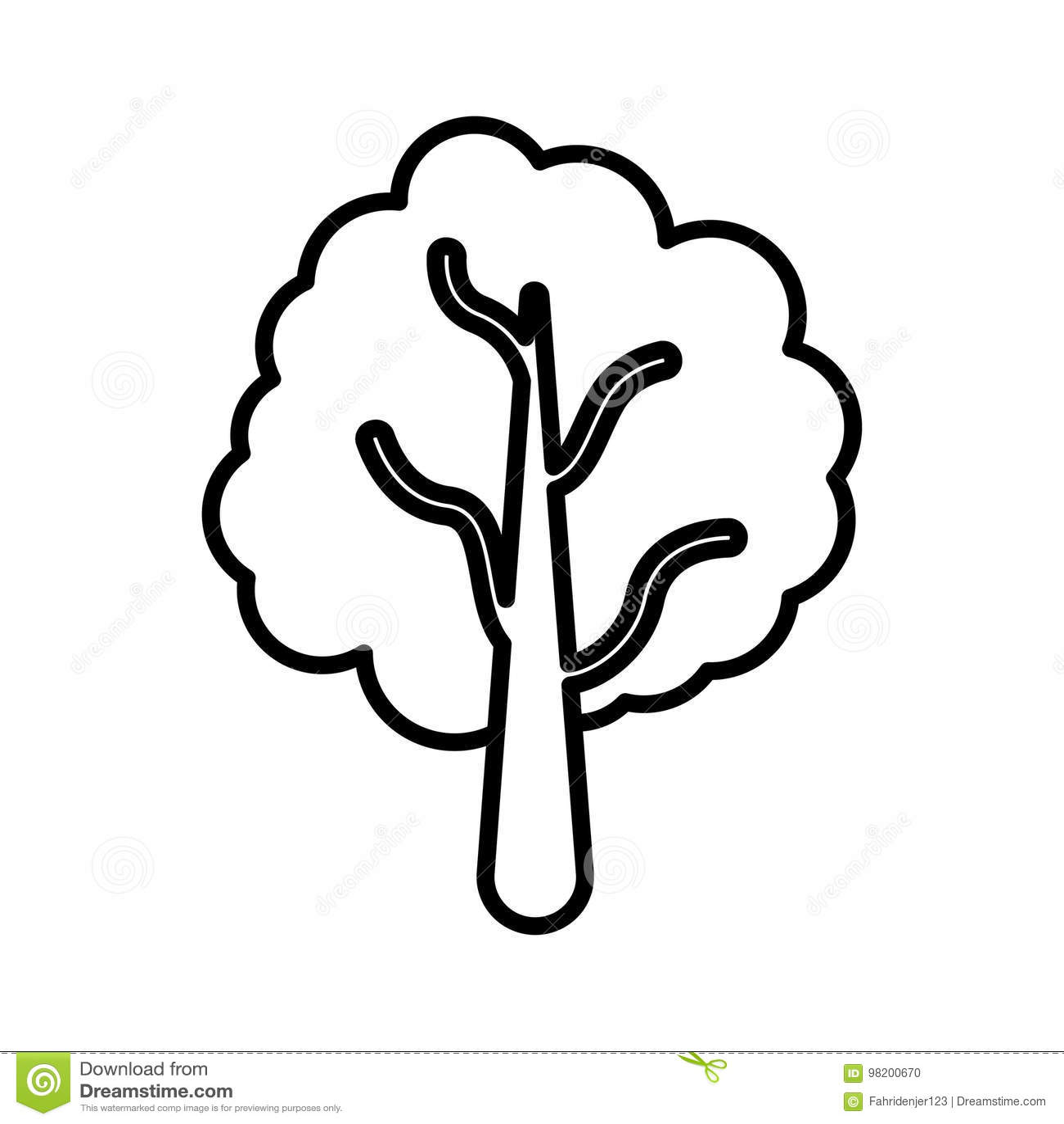 Download Уникально значок дерева иллюстрация штока. иллюстрации насчитывающей графики - 98200670