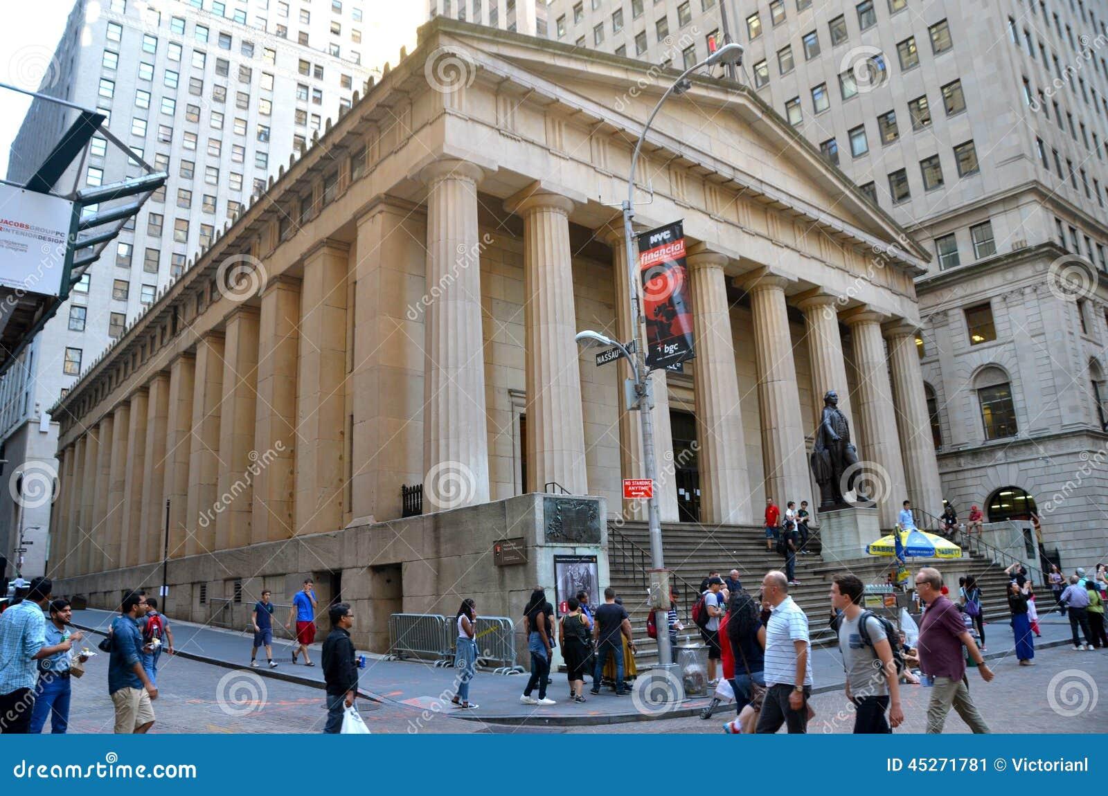 Уолл-Стрит и нью-йоркская биржа, Нью-Йорк, США