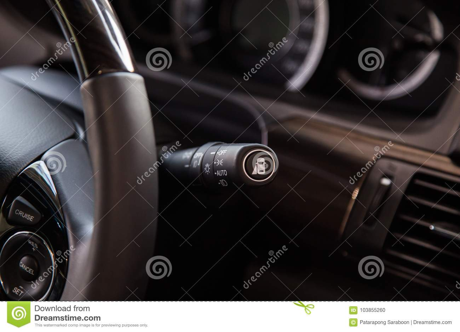 Управление выключателя в автомобиле