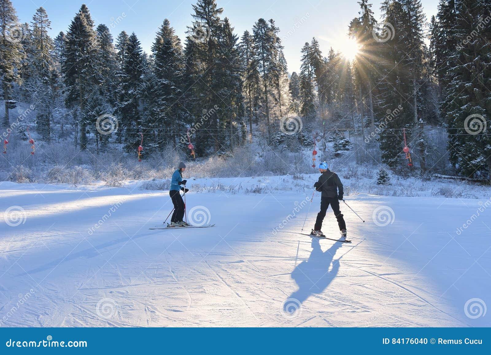 Урок лыжи
