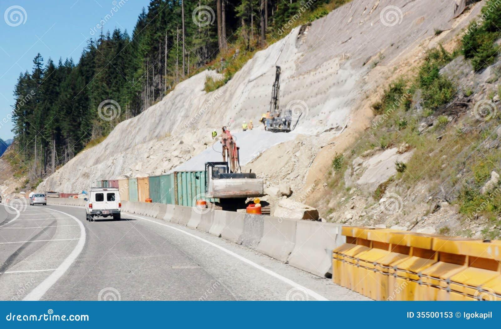 Усиливать горных склонов