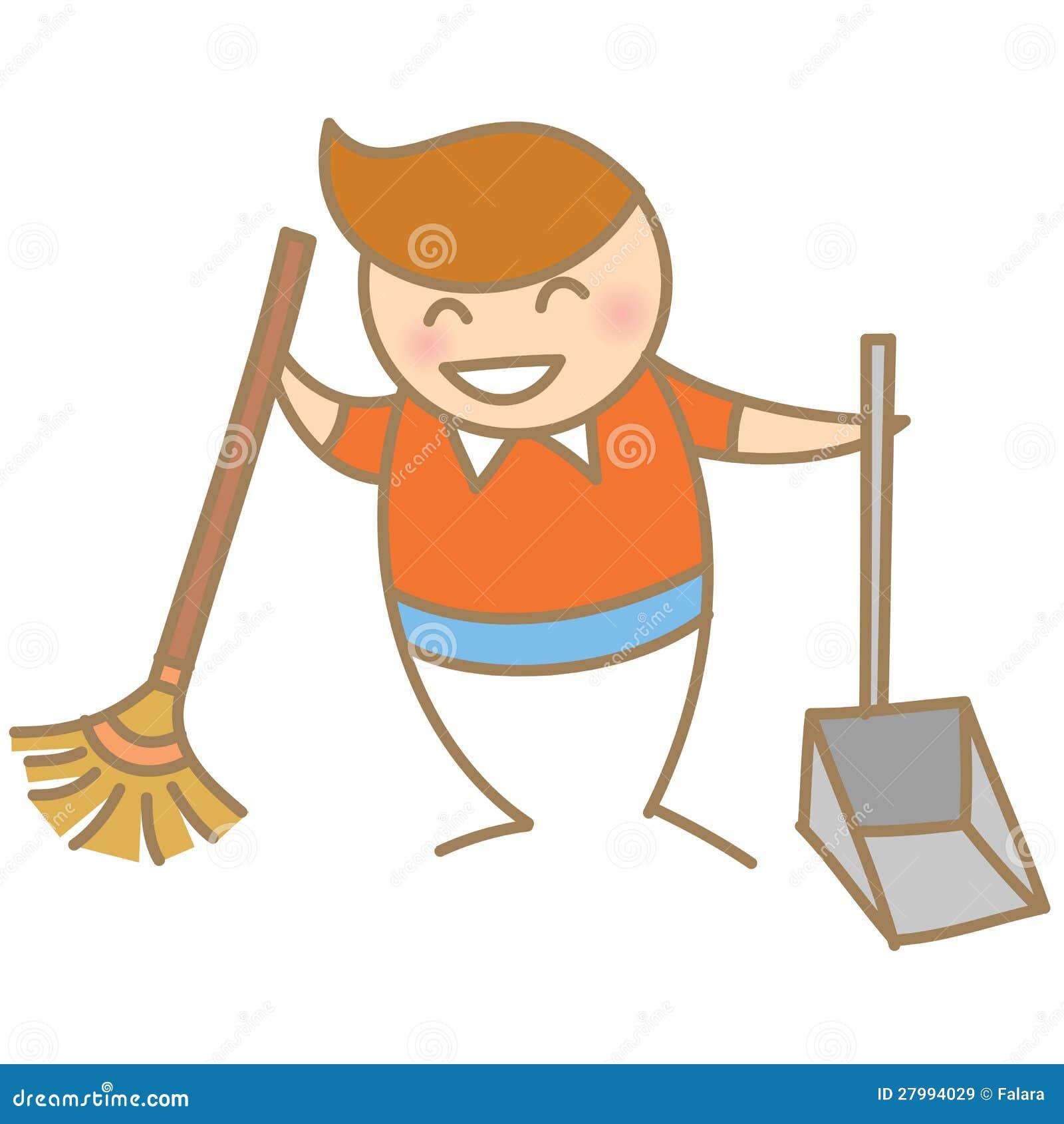 Усмехаться дома чистки мальчика