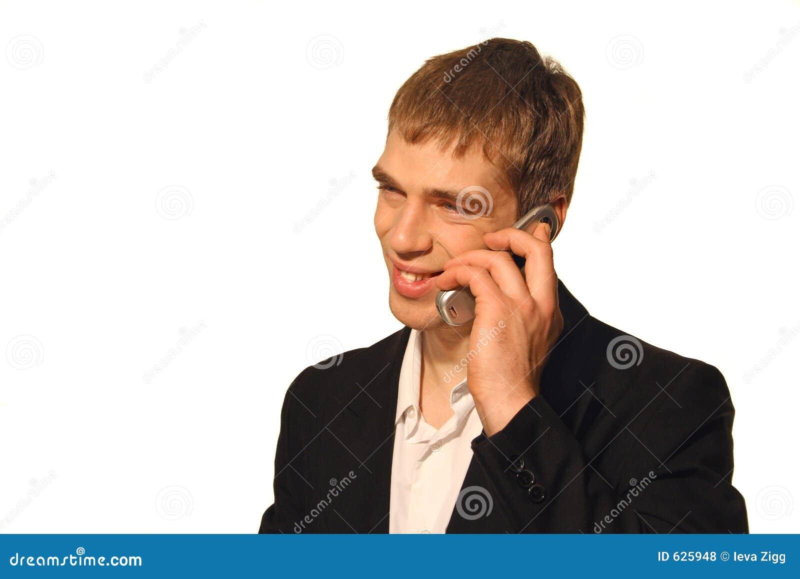 Download усмешка звонока дела стоковое фото. изображение насчитывающей слушать - 625948