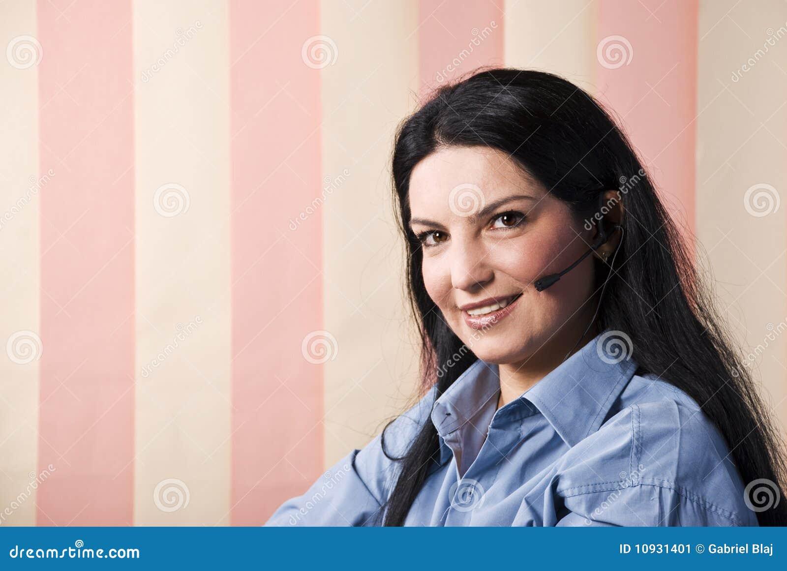 усмешка обслуживания rep клиента счастливая