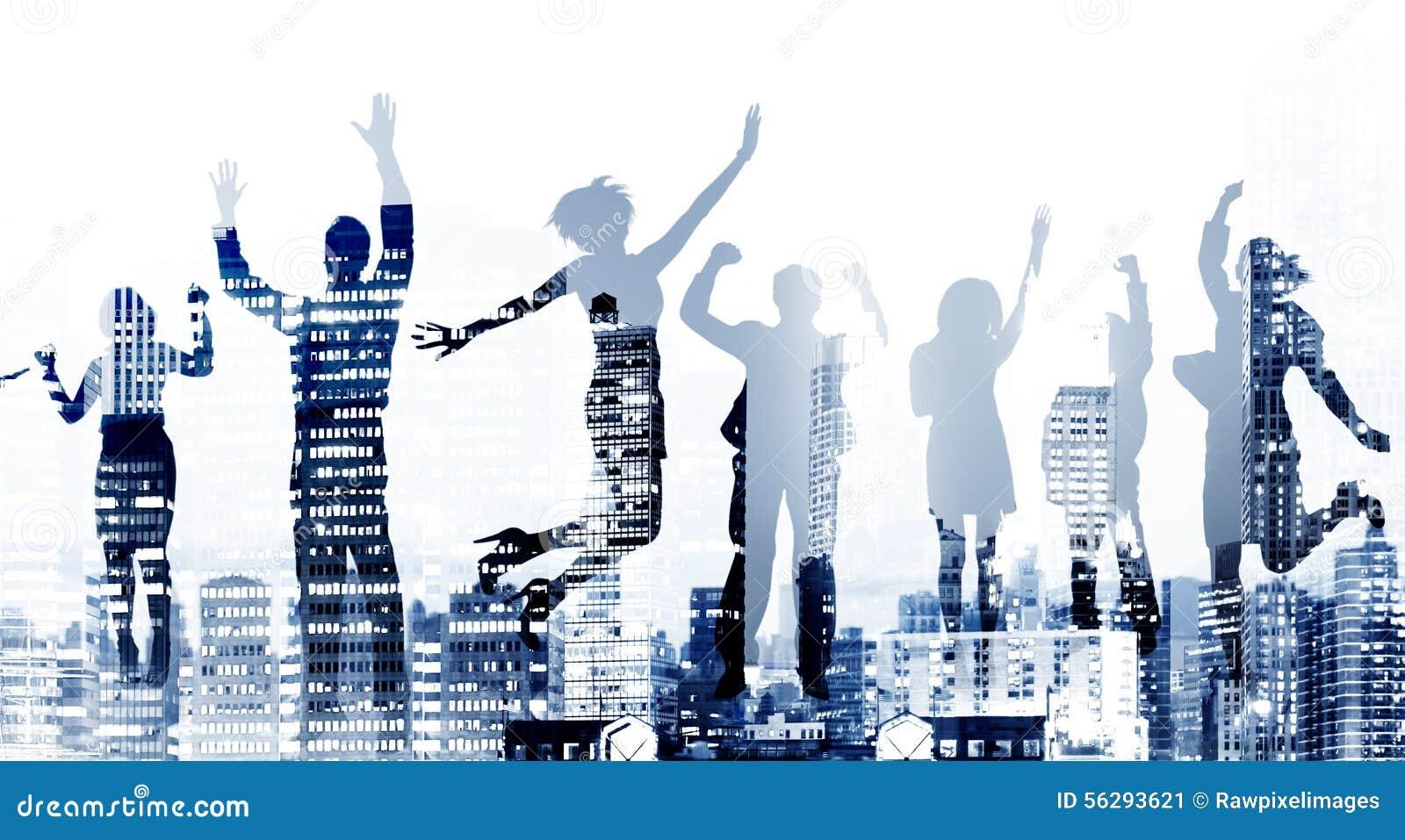 Успеха ободрения победы бизнесмены концепции достижения