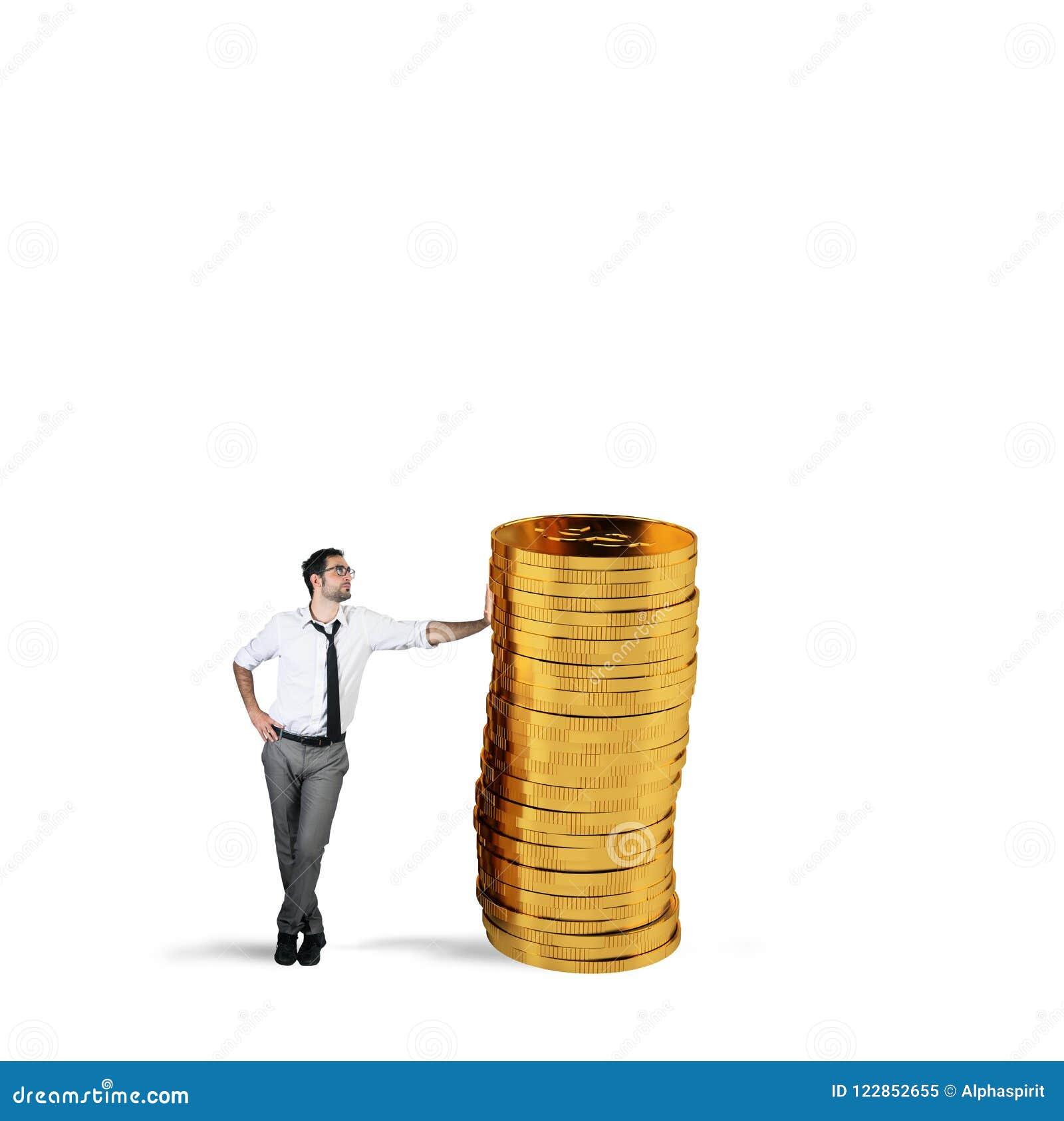 Успешный бизнесмен с кучей денег