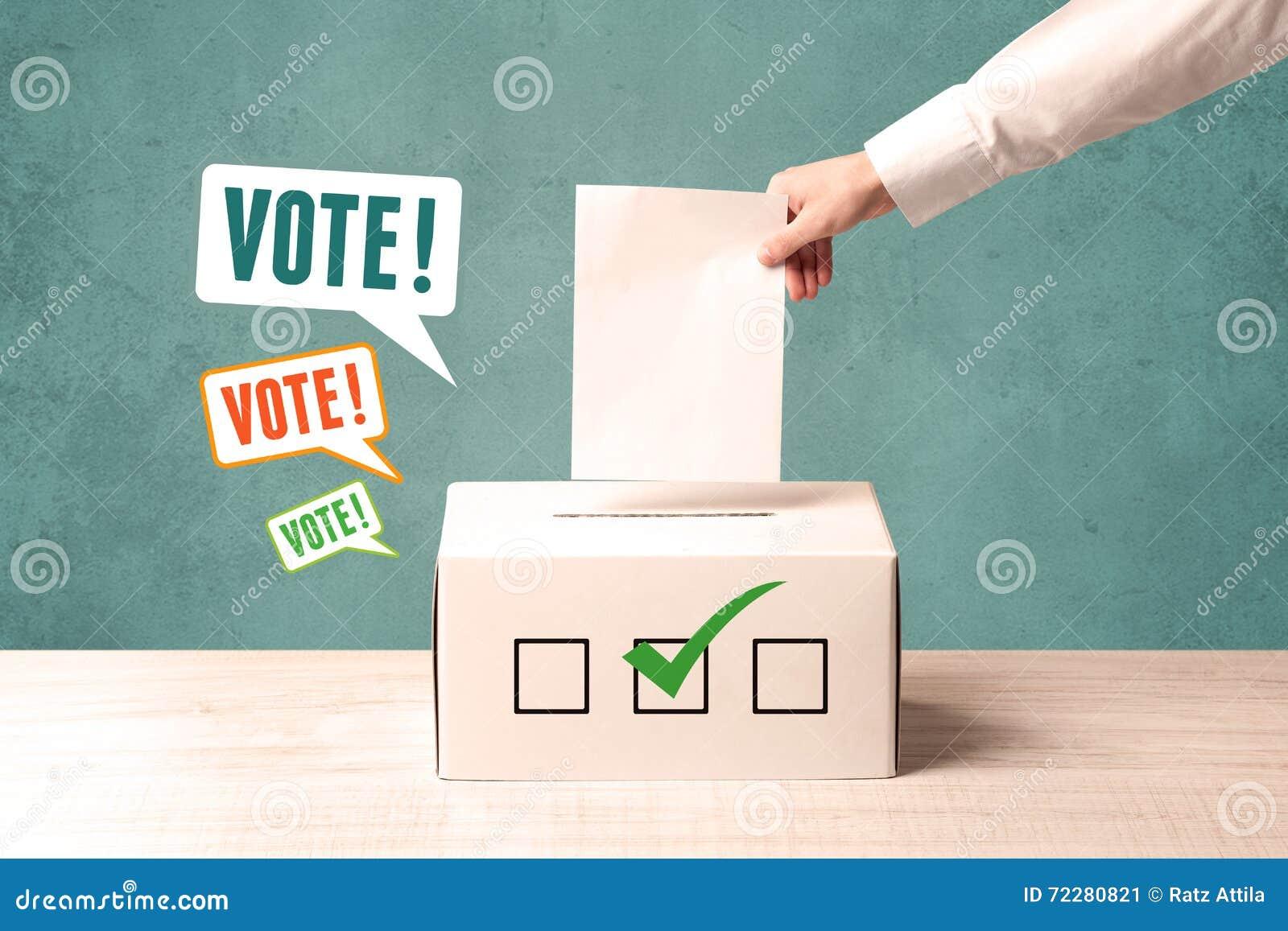 Download Устанавливать бюллетень голосования в урну для избирательных бюллетеней Стоковое Изображение - изображение насчитывающей политика, избрание: 72280821