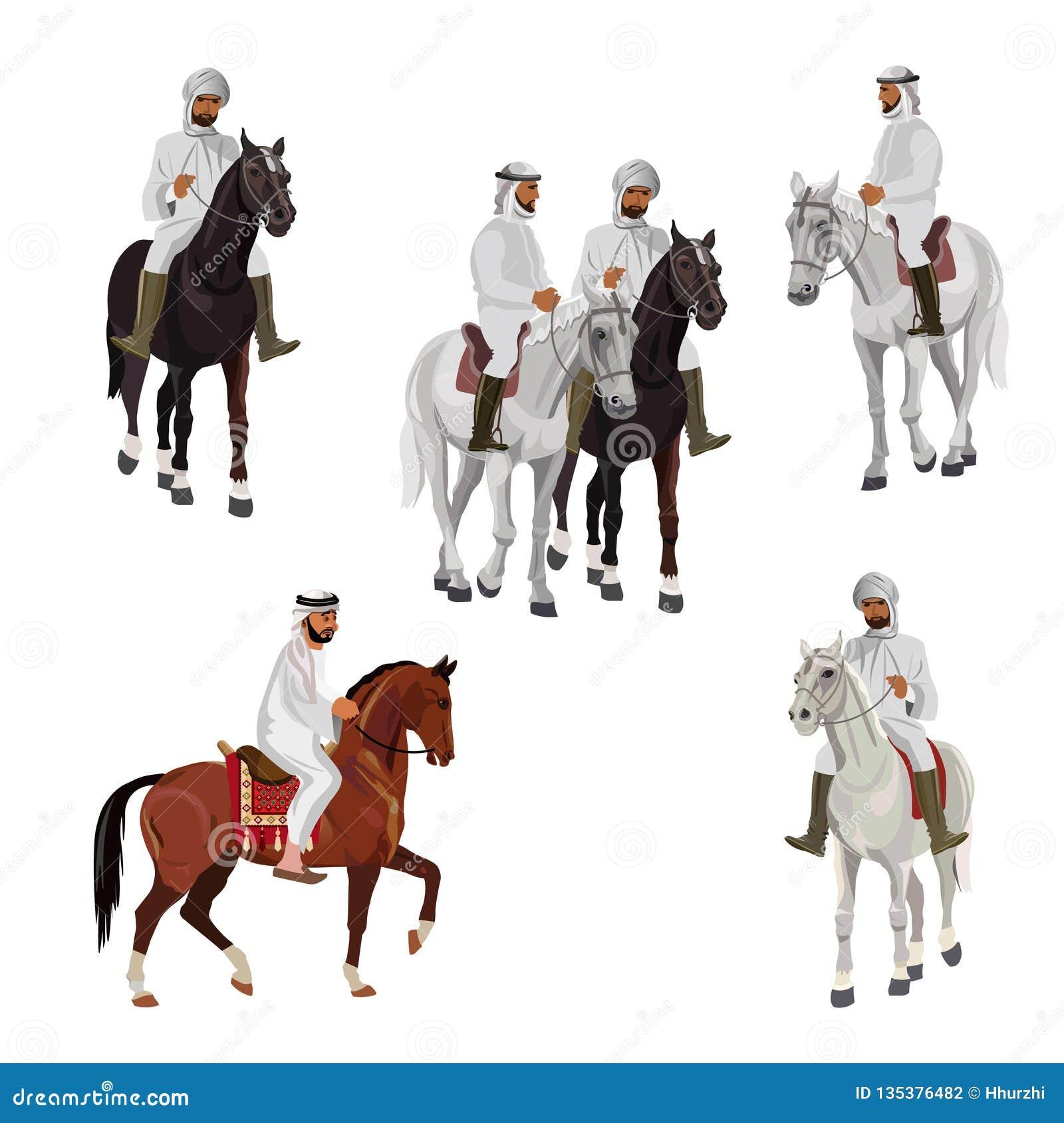 Установите аравийских всадников