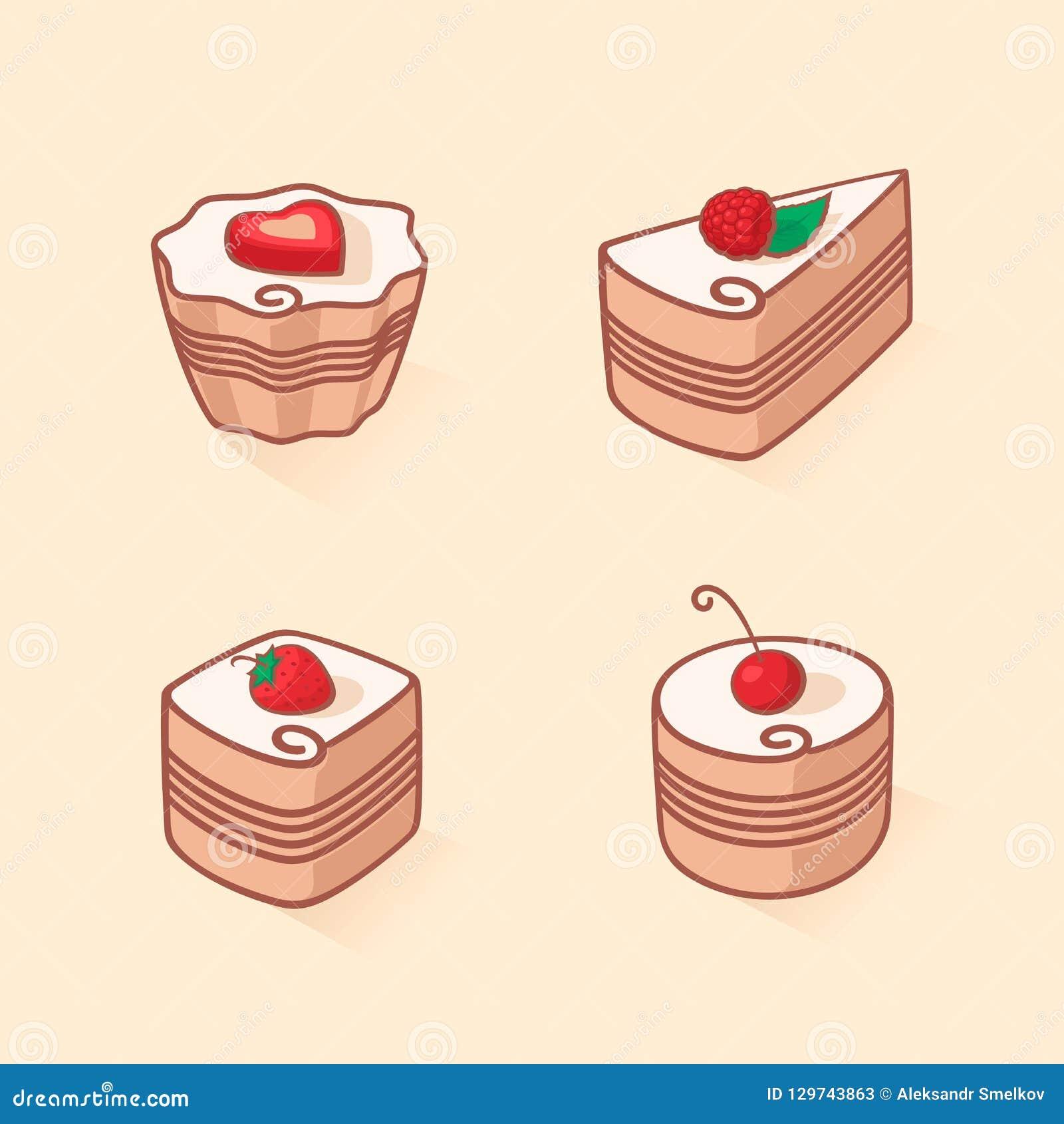 Установите значка торта