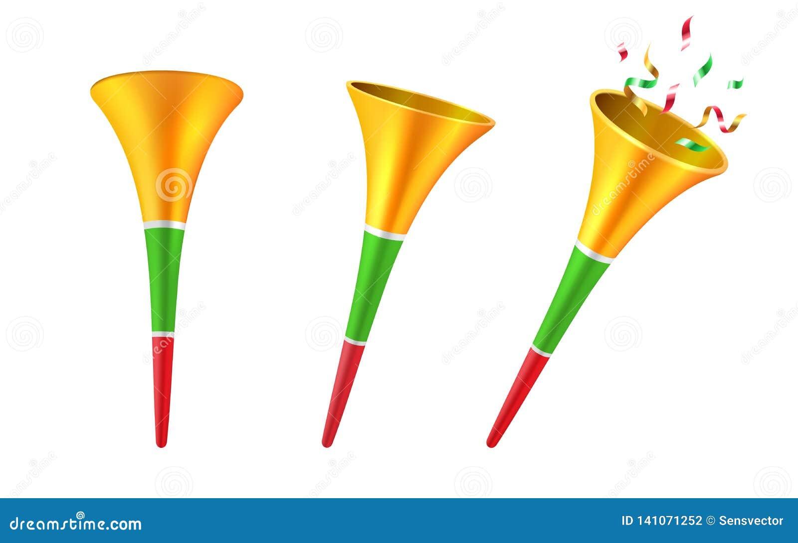 Установите изолированных рожков партии 3d или трубы футбола