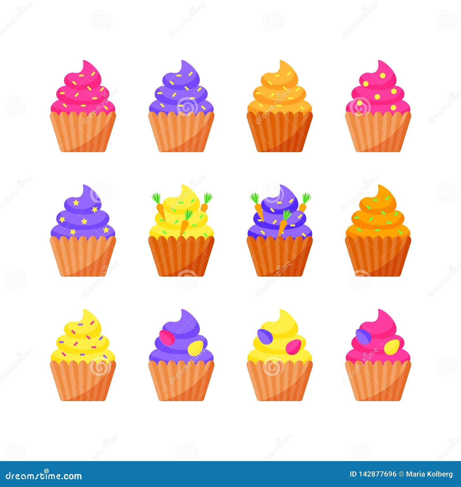 Установите пирожных пасхи на праздник пасхи r