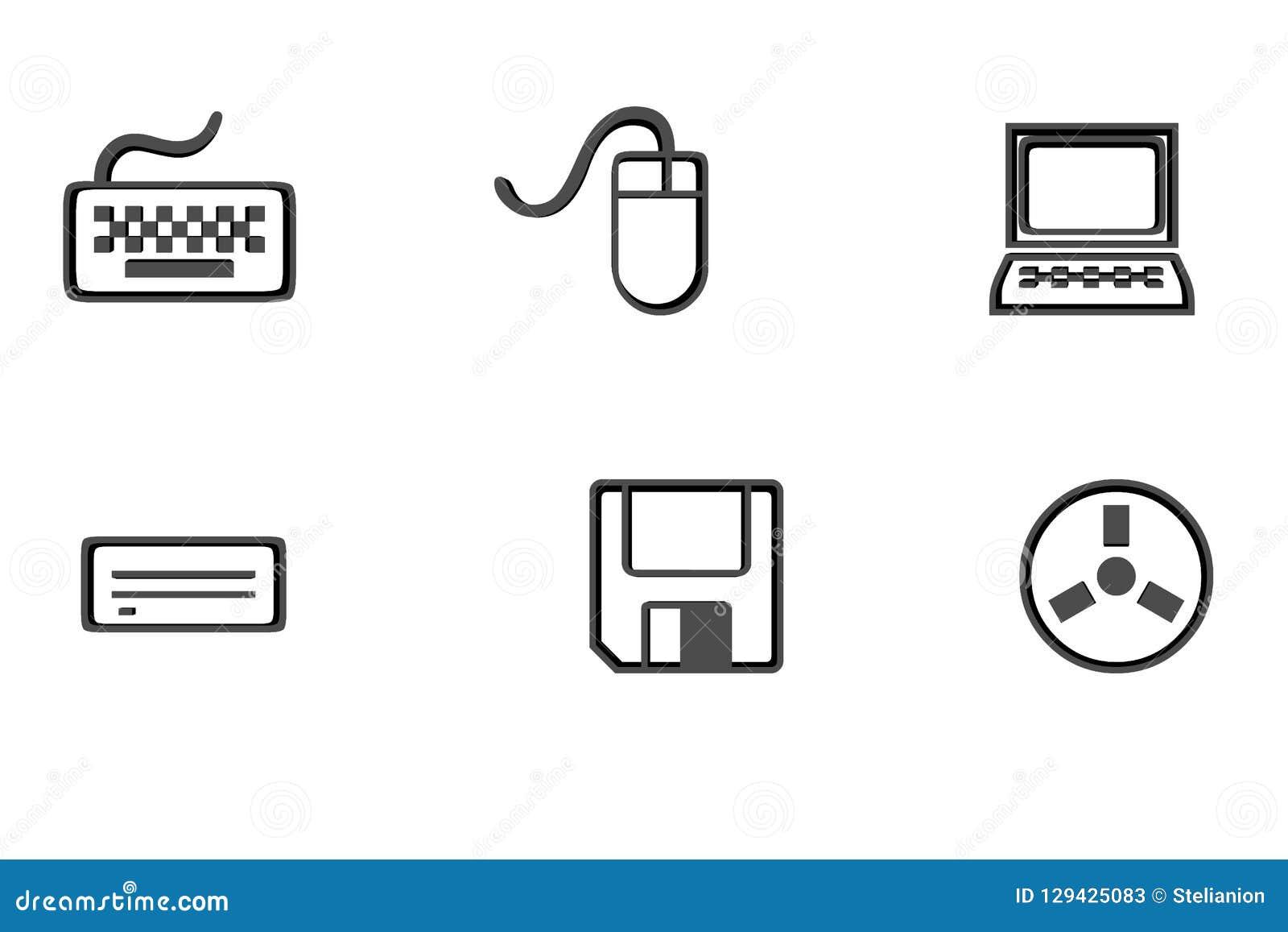 Установите символы ИТ - компьтер-книжку, мышь, клавиатуру