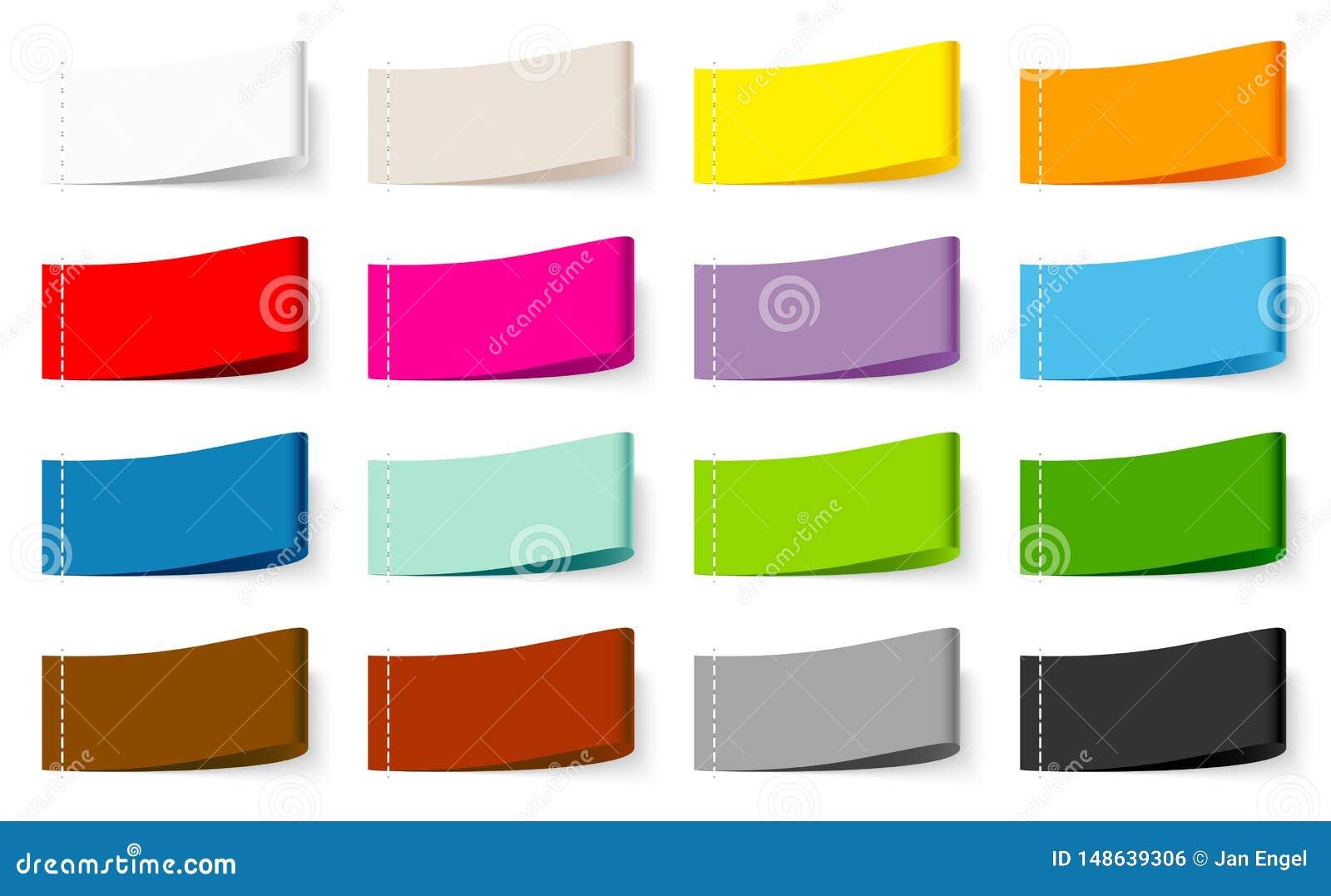 Установите смешивания цвета ярлыка 15 тканей шить