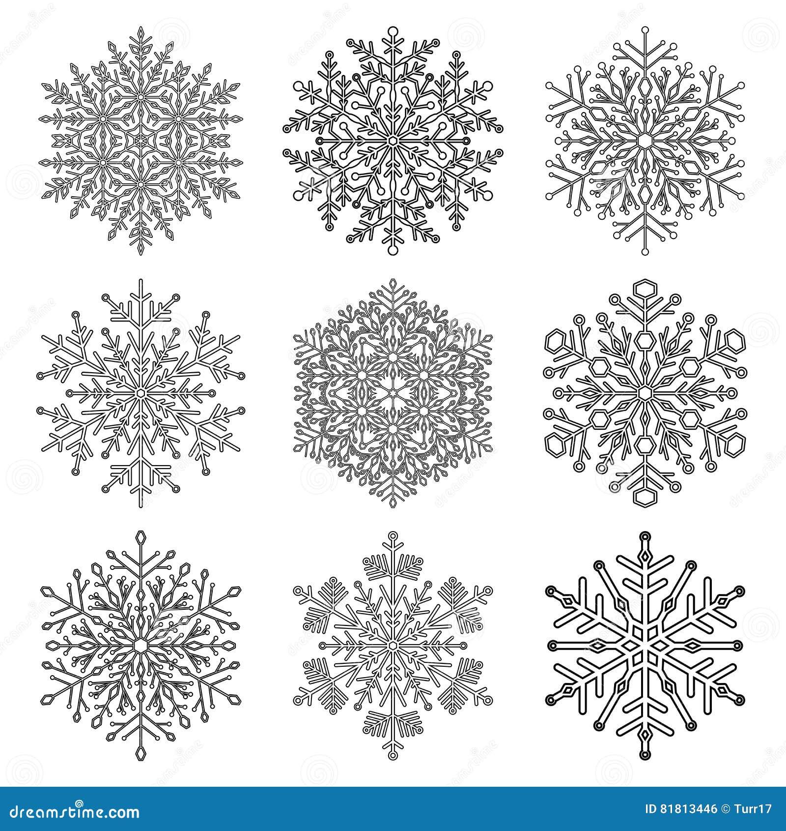 установите снежинки