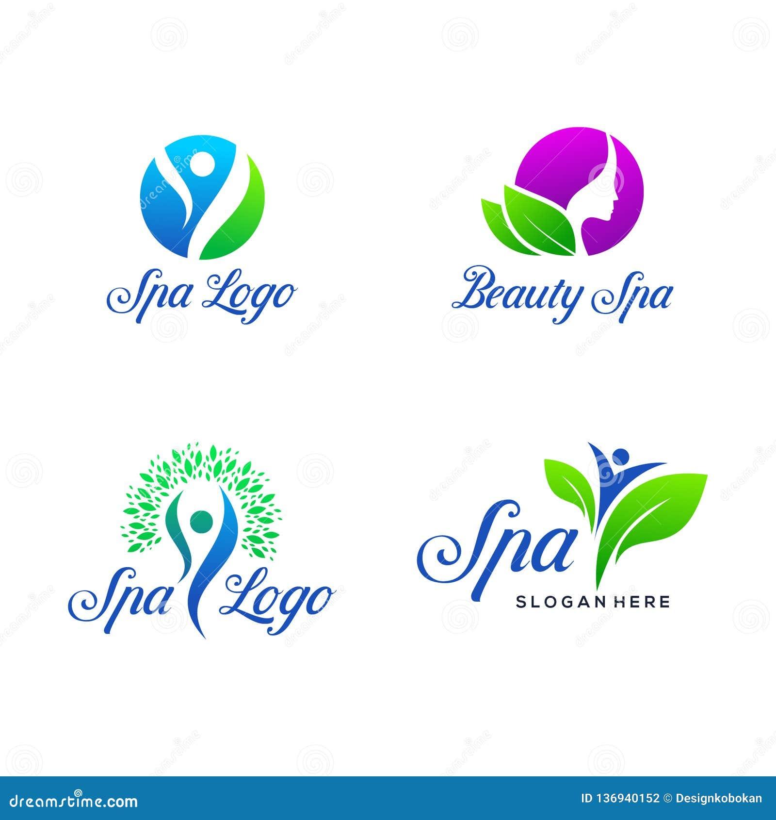 Установите спа и дизайна логотипа красоты