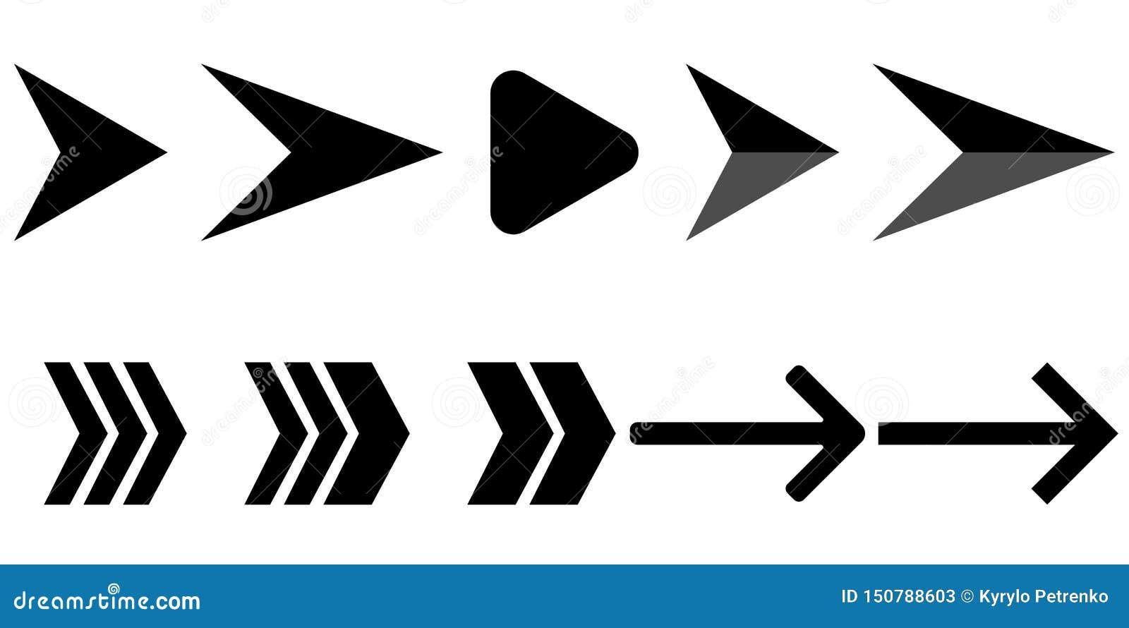 Установите черно-белых современных стрелок
