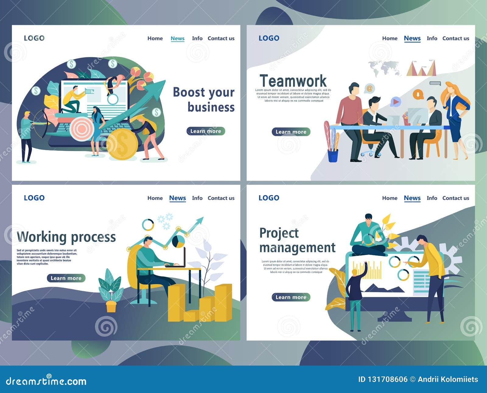 Установите шаблонов дизайна интернет-страницы для дела