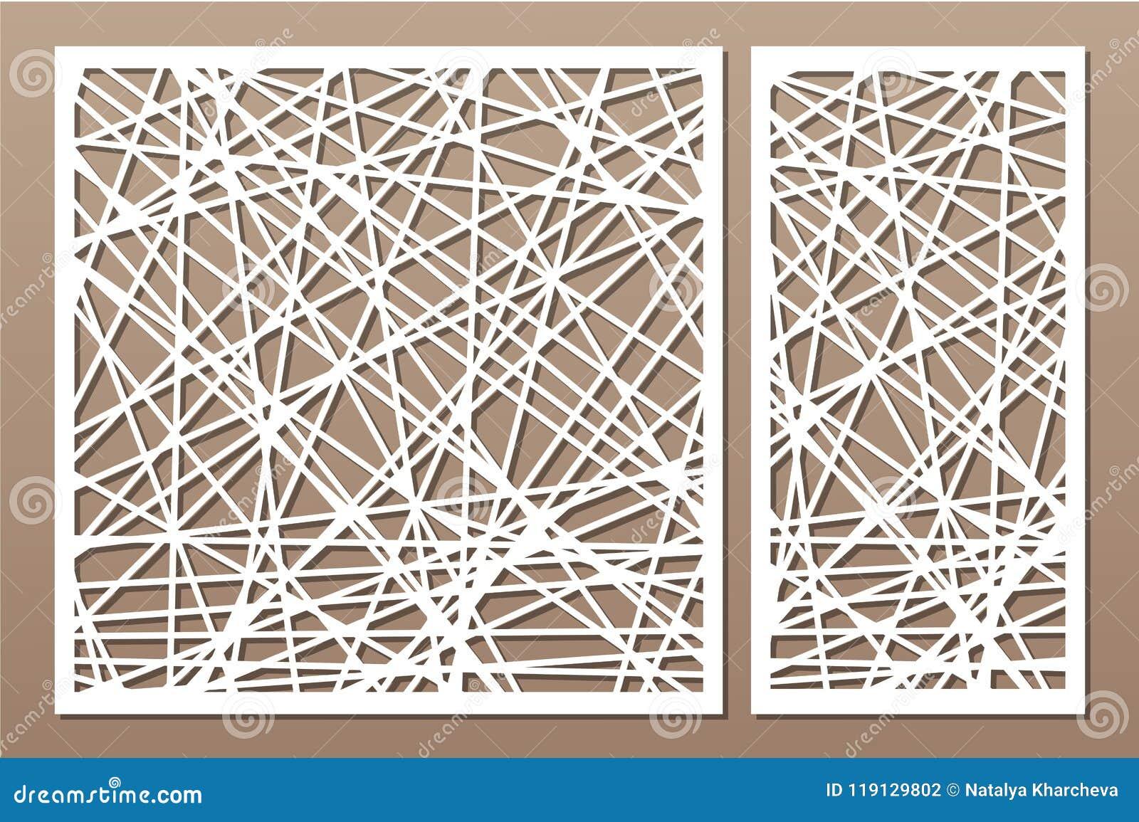 Установленное декоративное вырезывание лазера панели сбор винограда панели чертежа предпосылки деревянный Элегантная современная