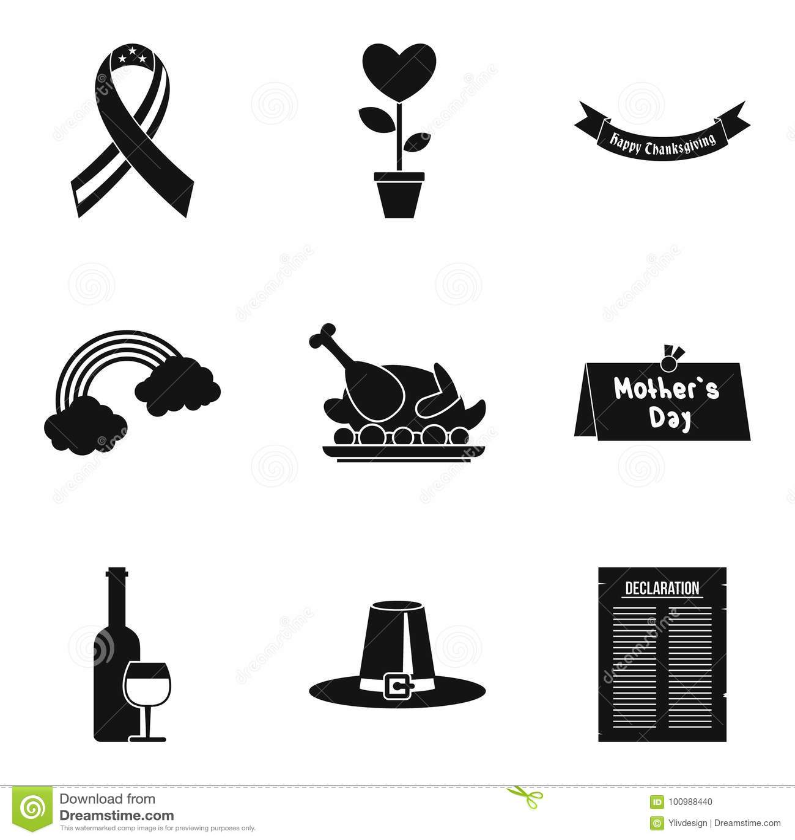 Установленные значки, простой стиль списка причины