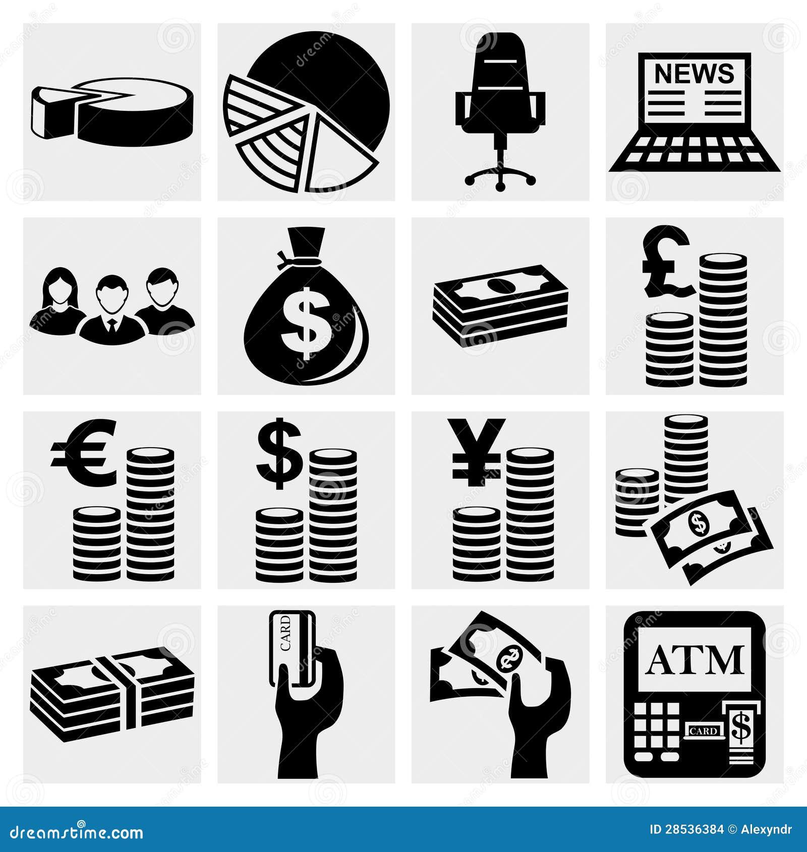 Установленные иконы денег