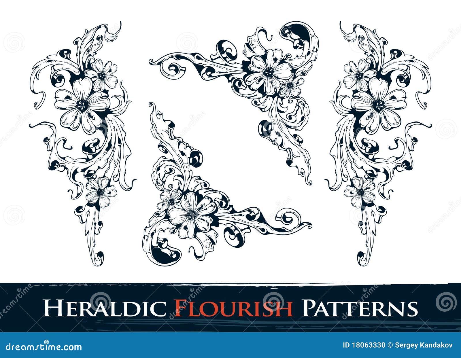 установленные картины flourish heraldic