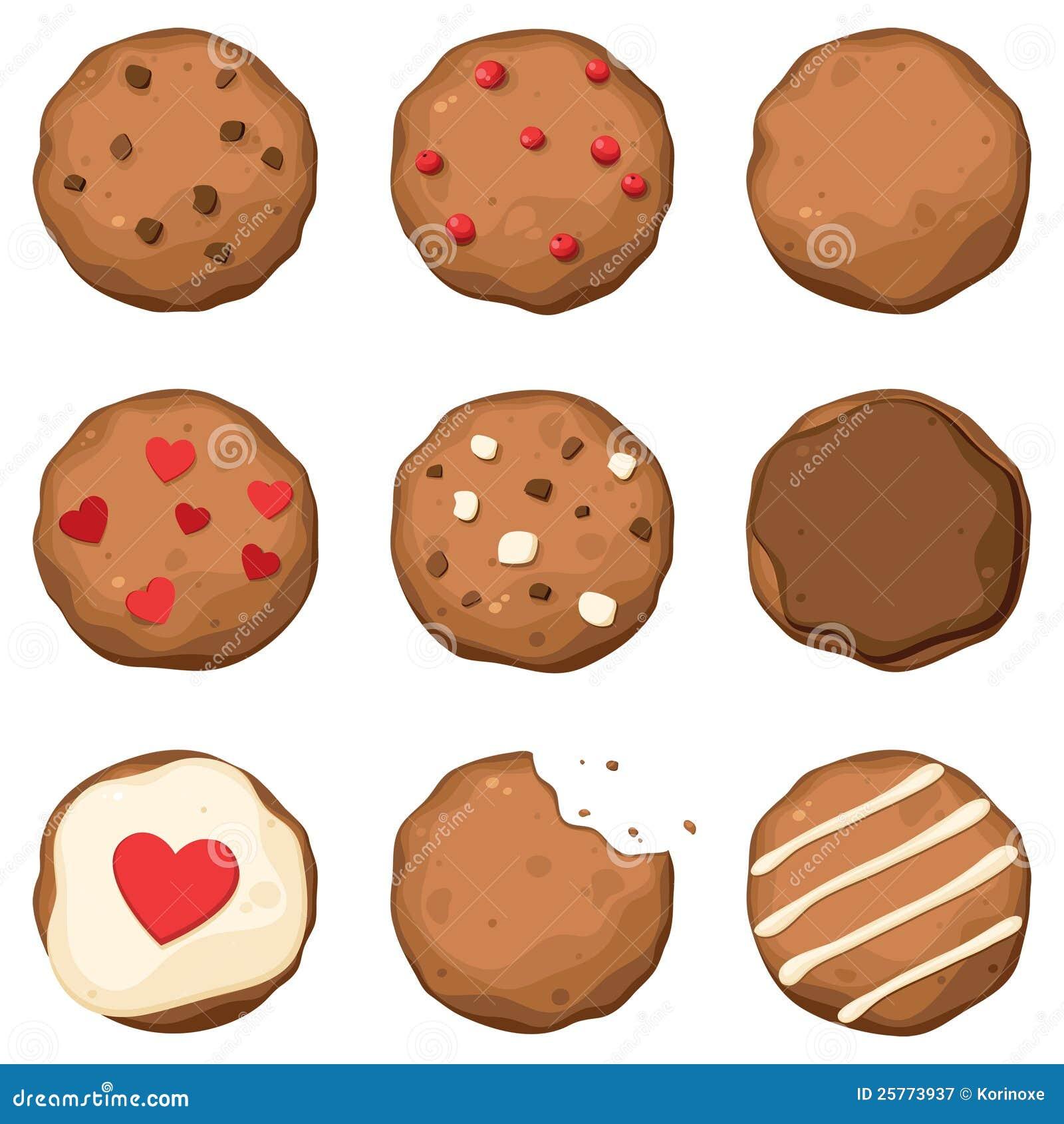 Установленные печенья обломока шоколада