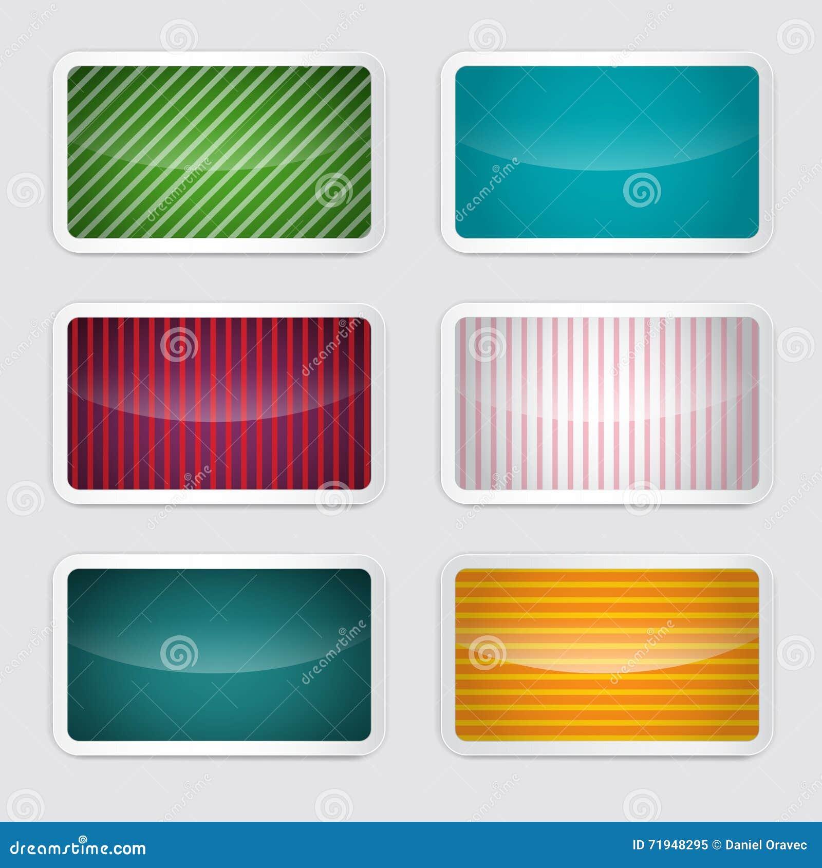 Установленная предпосылка - карточки вектора ретро бумажные красочные