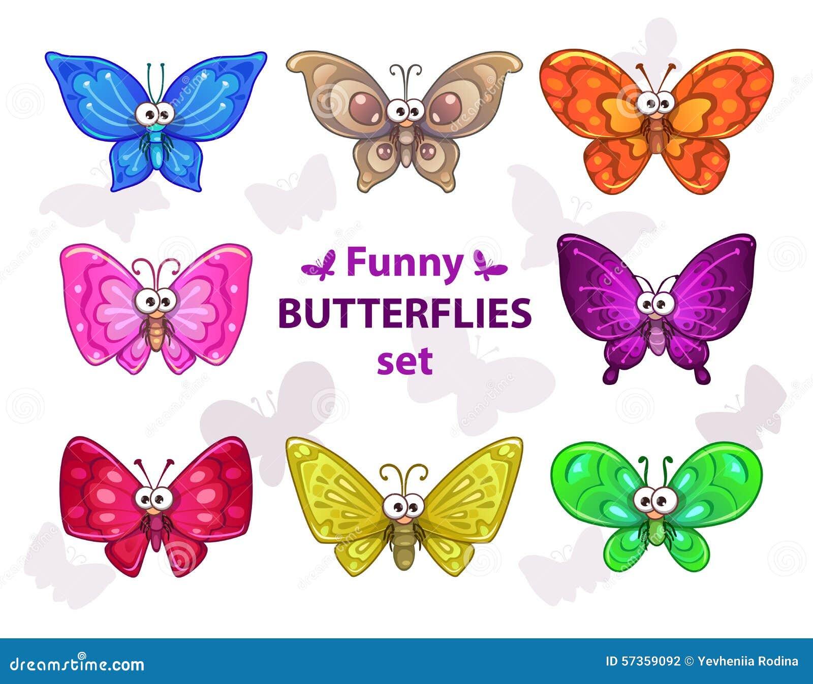 установленные бабочки