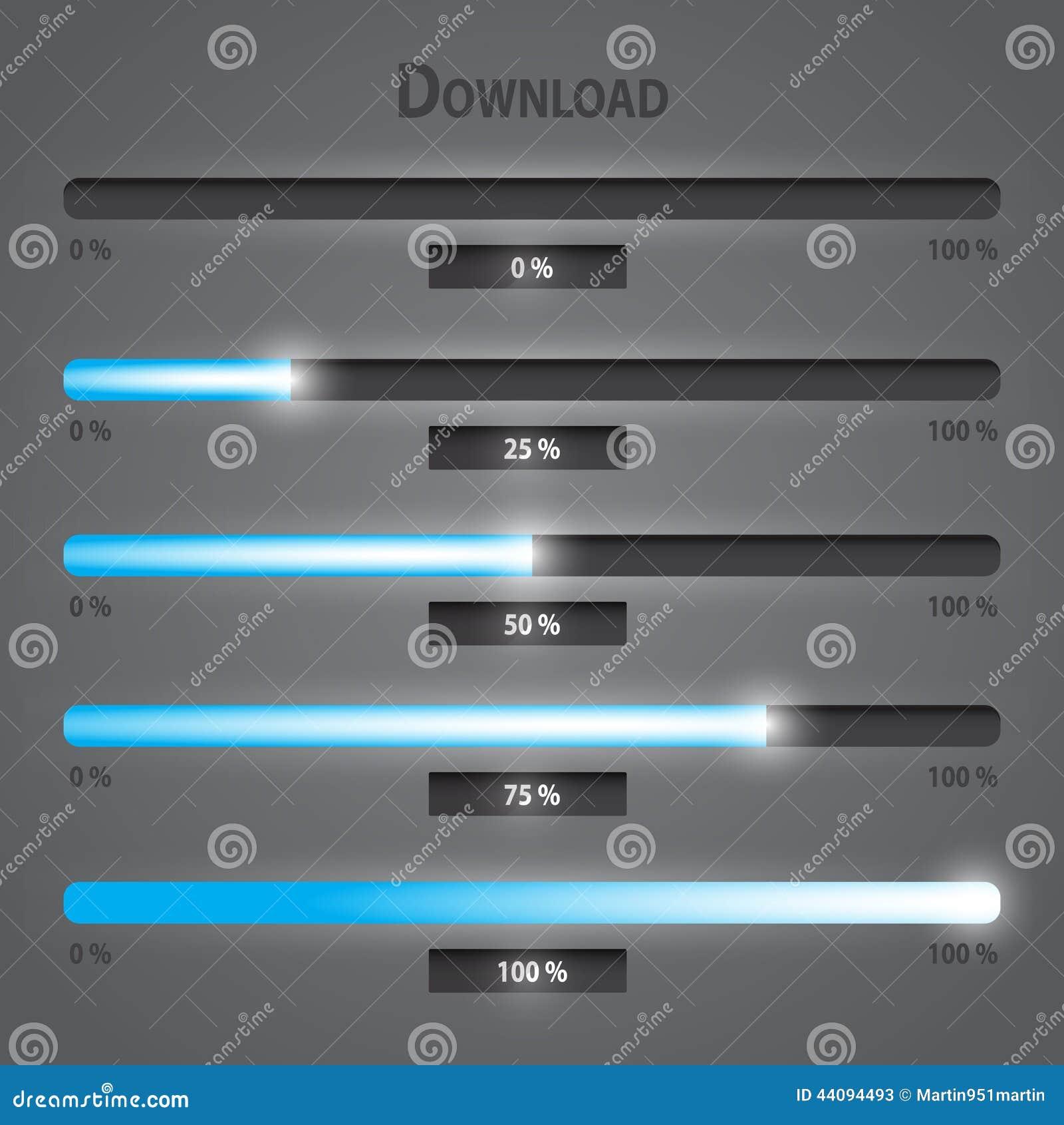Установленные бары загрузки интернета светов сини