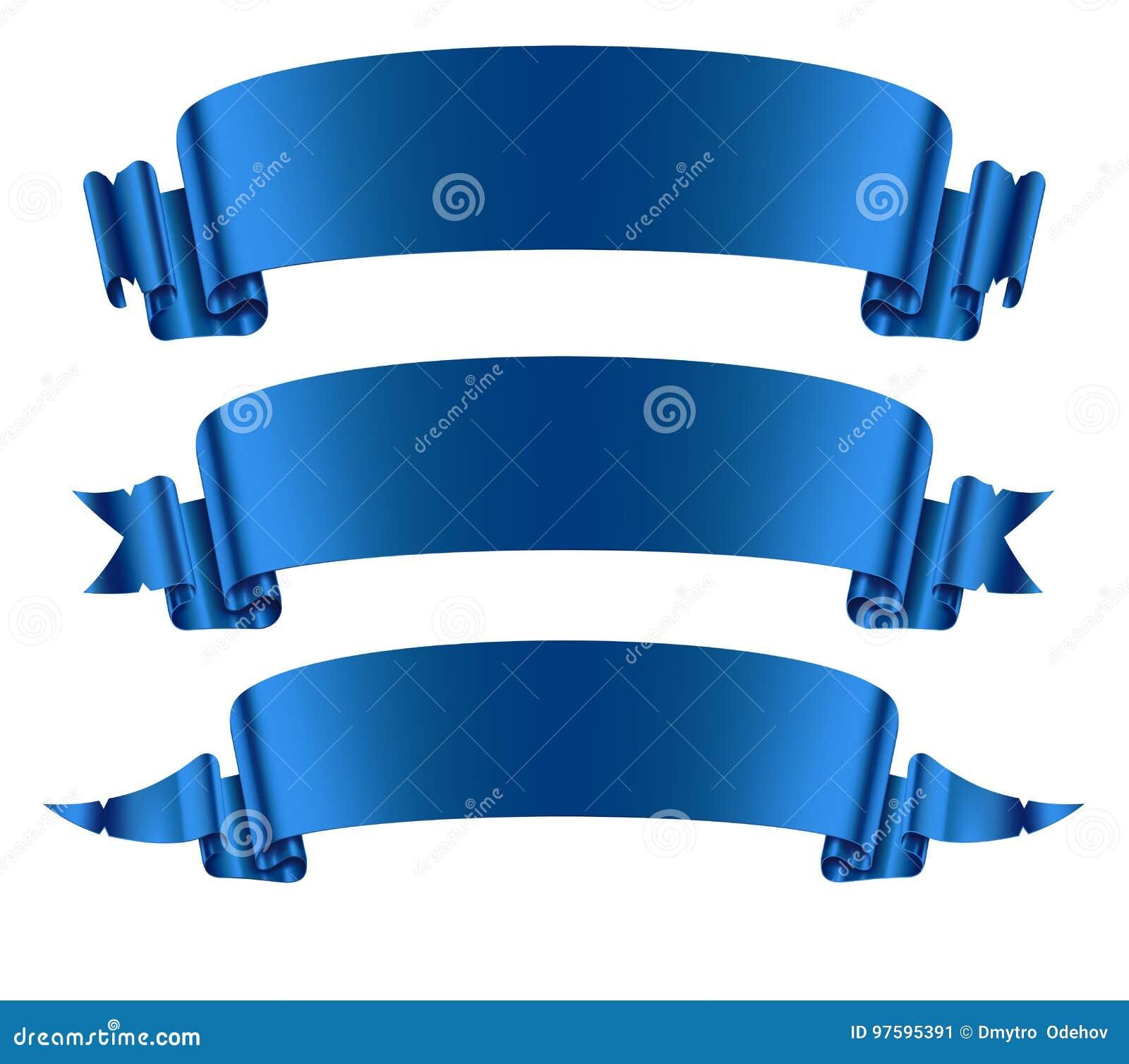 Установленные знамена голубых лент
