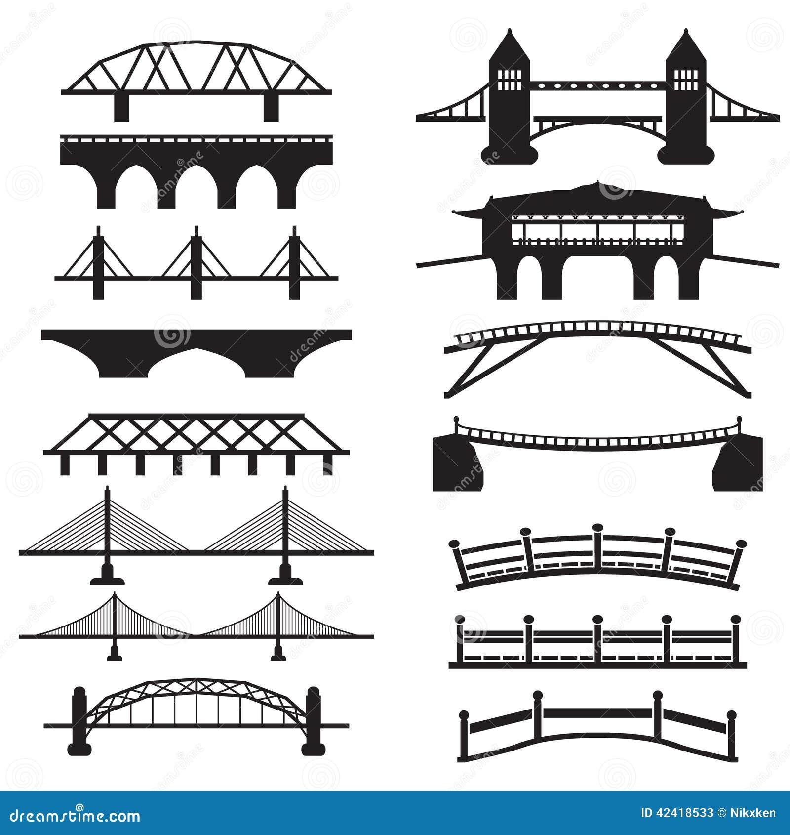 Элементы деревянного моста схема