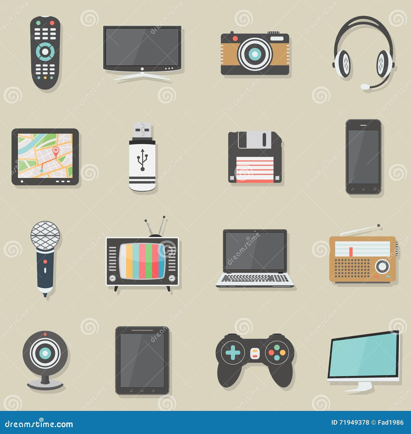 Установленные значки домашней электроники