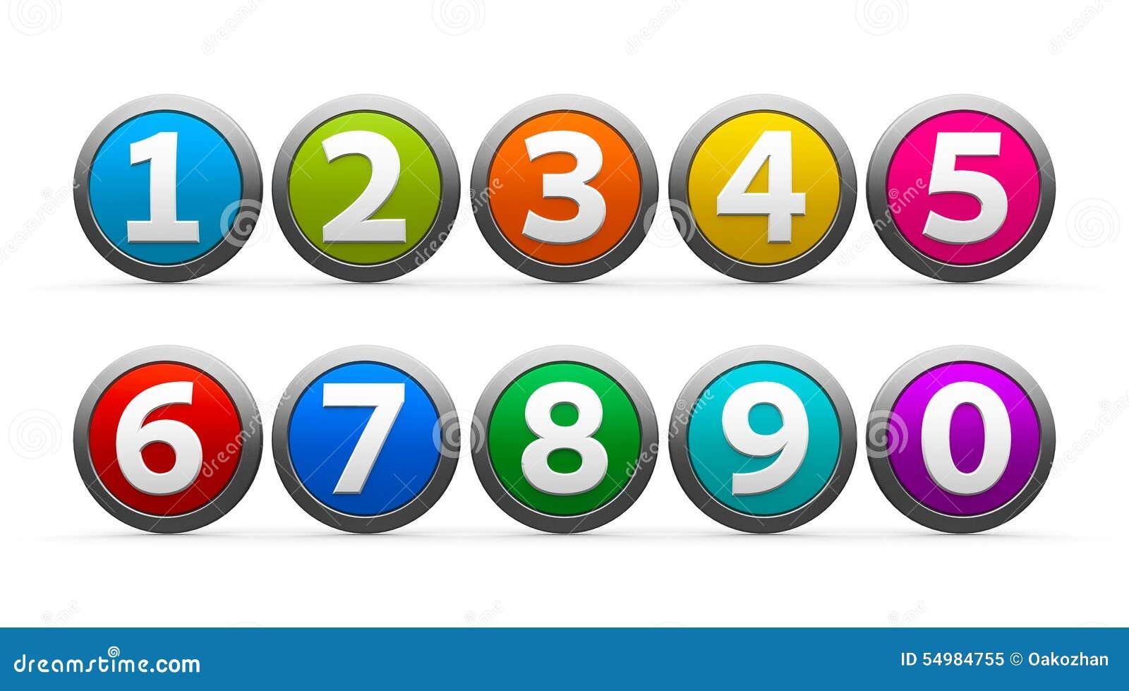 Картинки цифр для кнопок