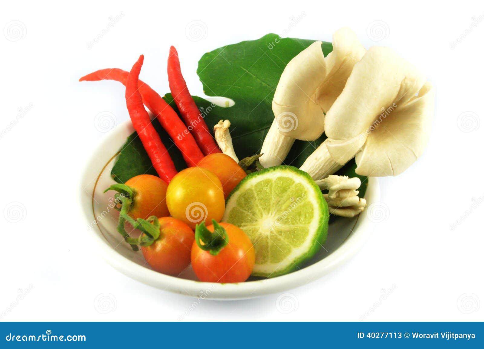 Установленные овощи