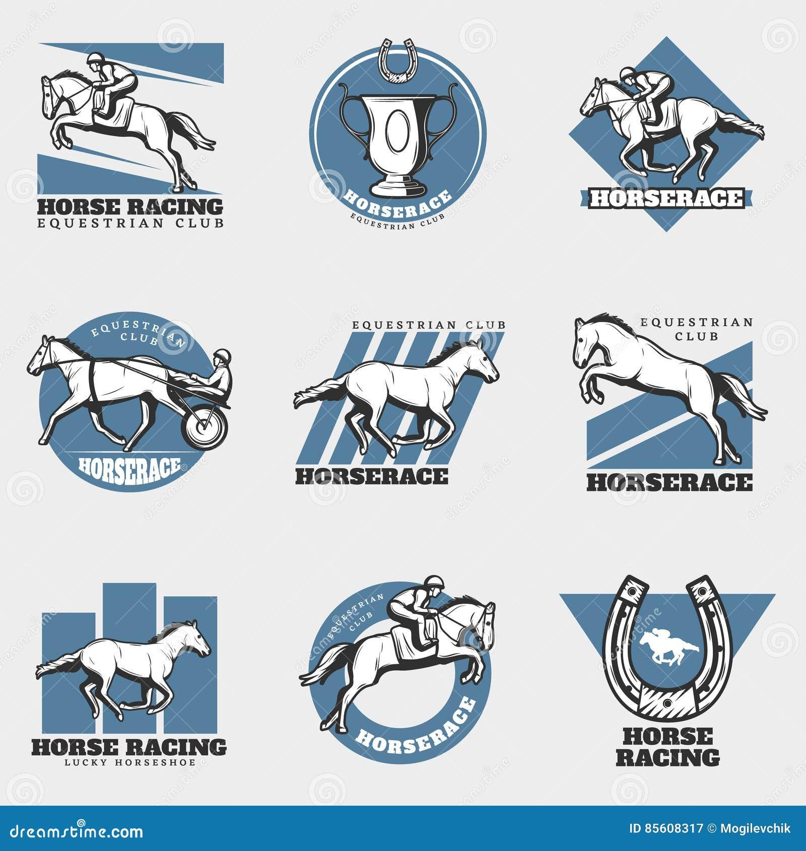 Установленные логотипы конноспортивного спорта винтажные
