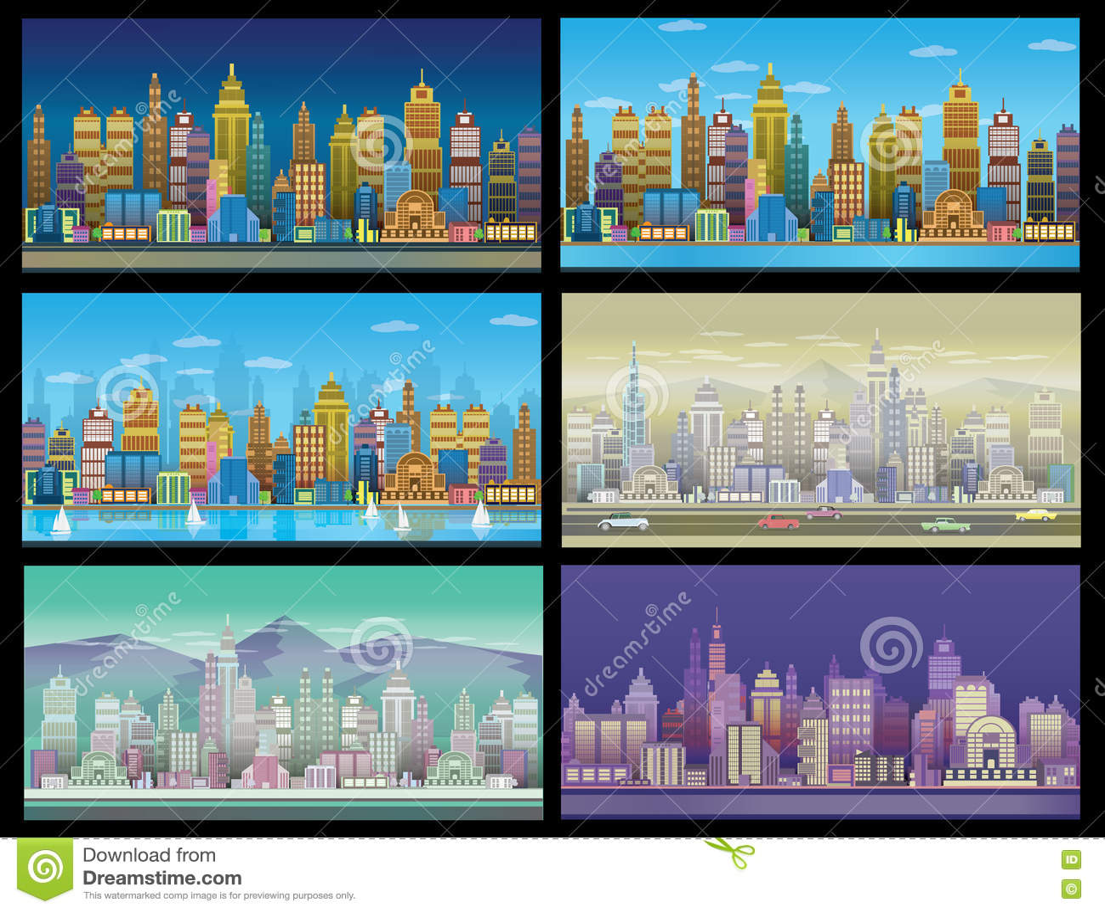 Установленные предпосылки игры города С ретро автомобилями, 2d применение игры