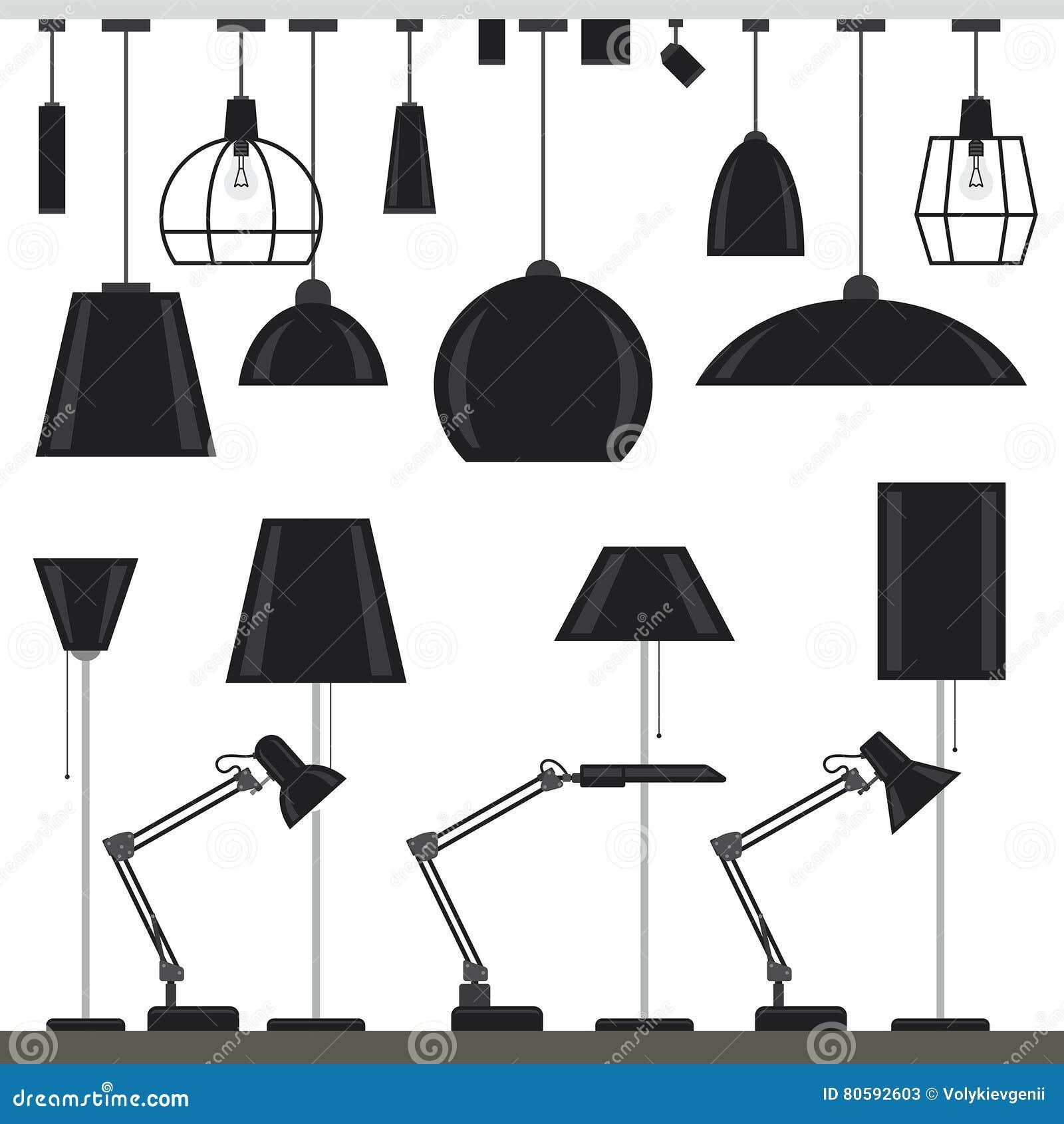 установленные светильники