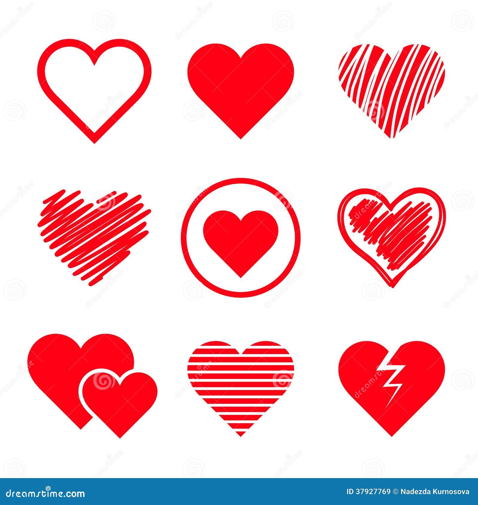 Установленные сердца вектора