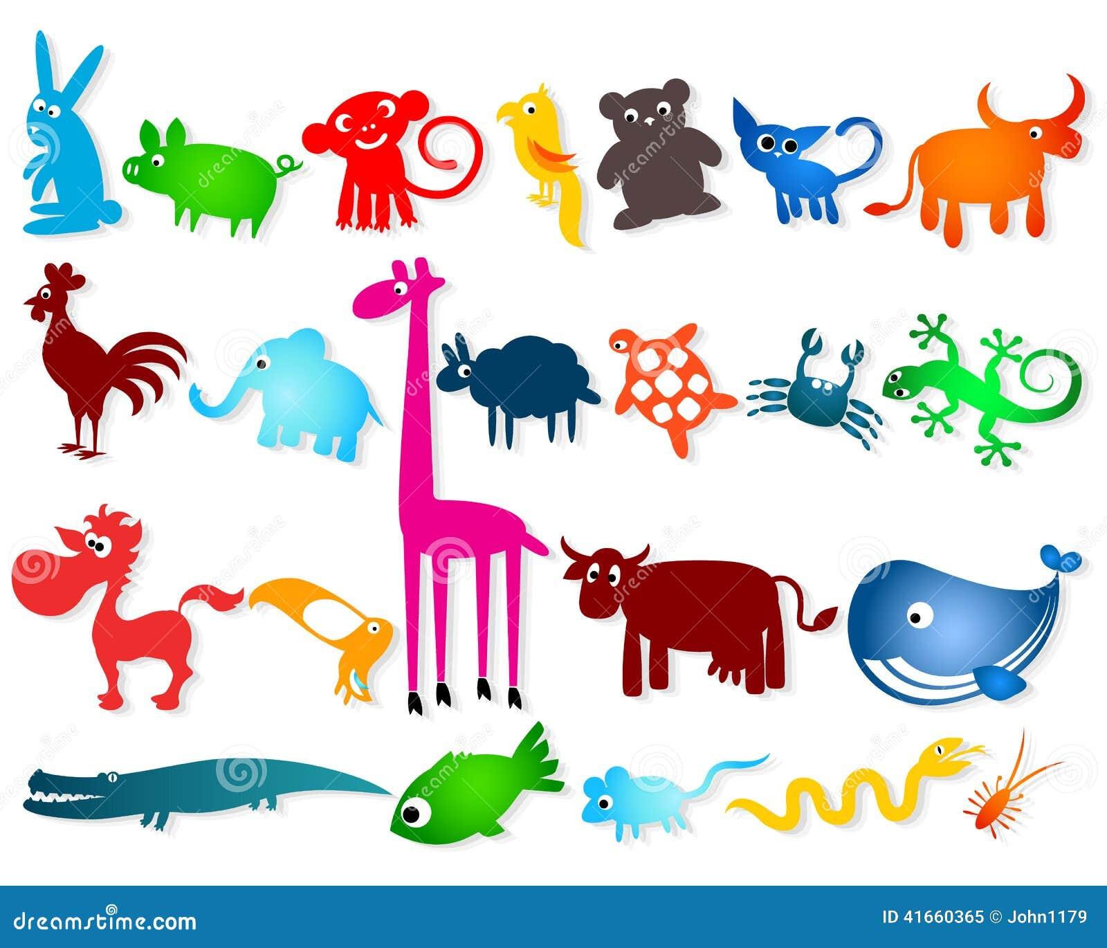 Установленные cartoony животные
