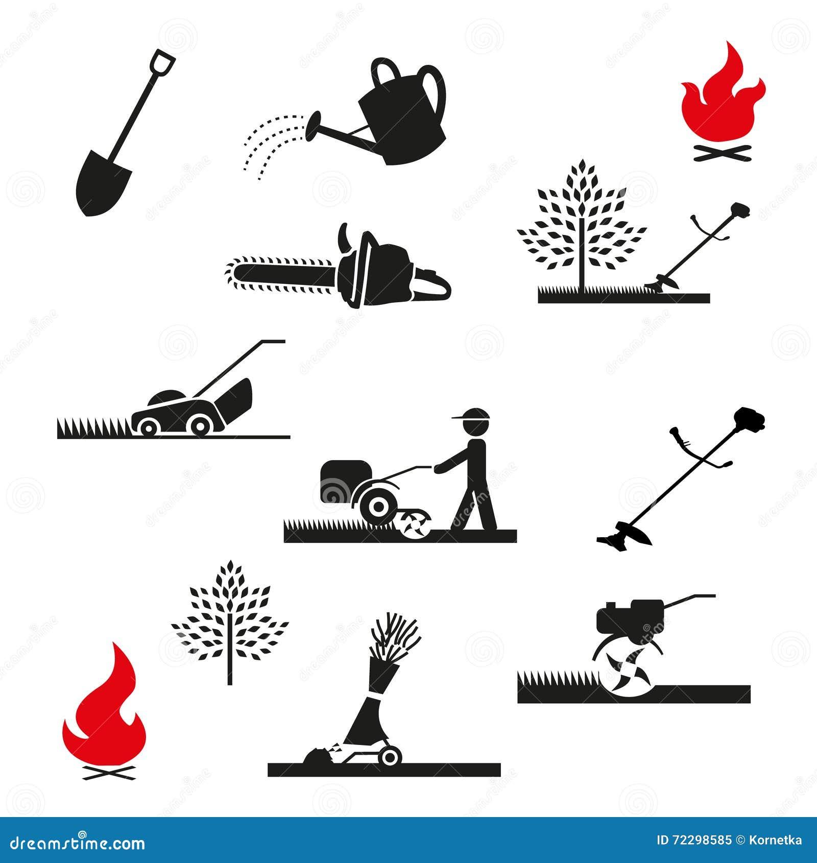Download Установленный садовничая значок Иллюстрация вектора - иллюстрации насчитывающей природа, отрезок: 72298585