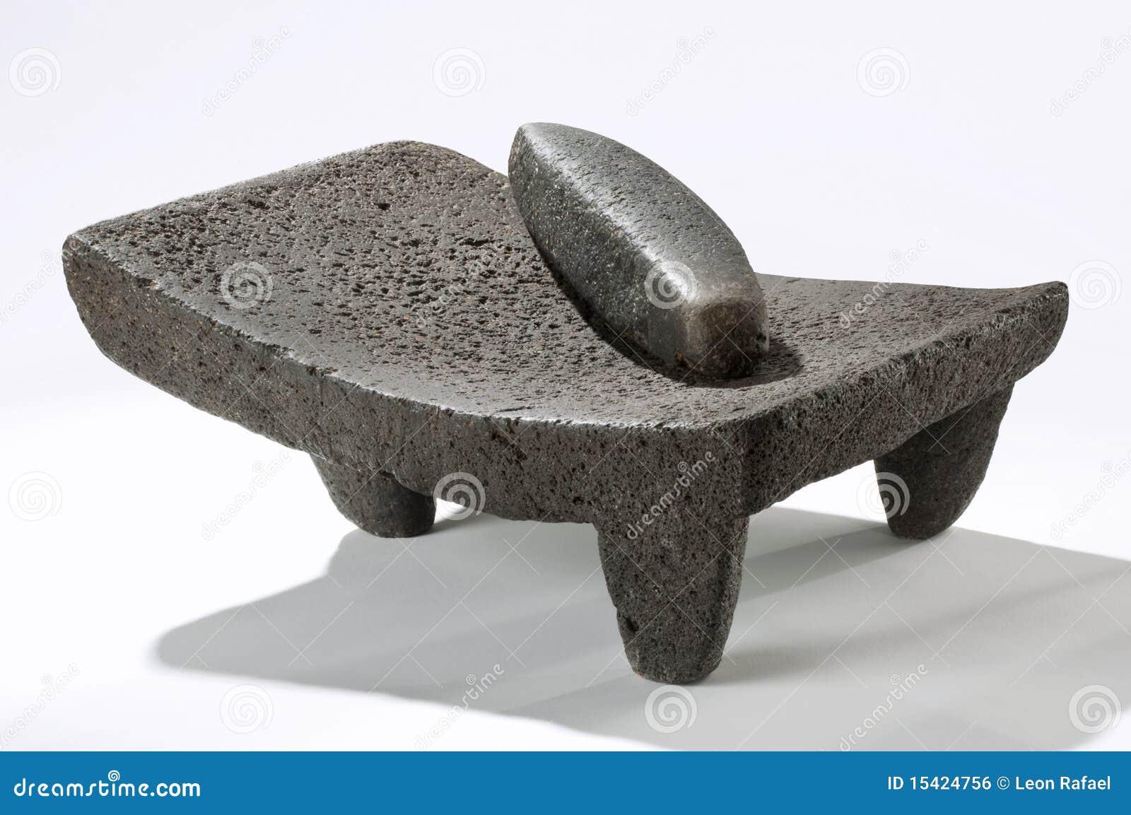 утварь metate мексиканская каменная